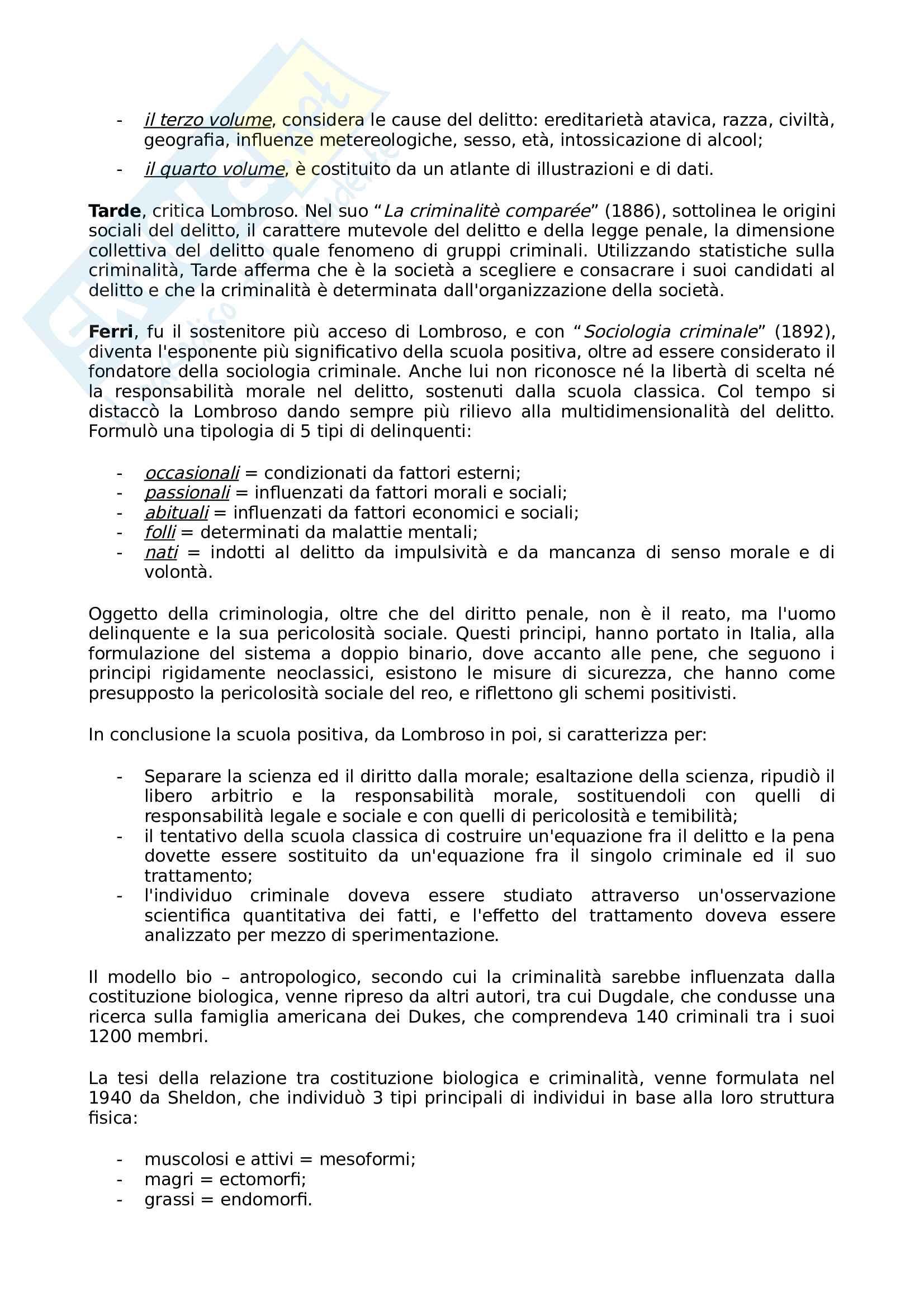 Riassunto esame Sociologia della devianza, prof Garreffa, libro consigliato Sociologia della devianza, Berzano, Prina Pag. 11