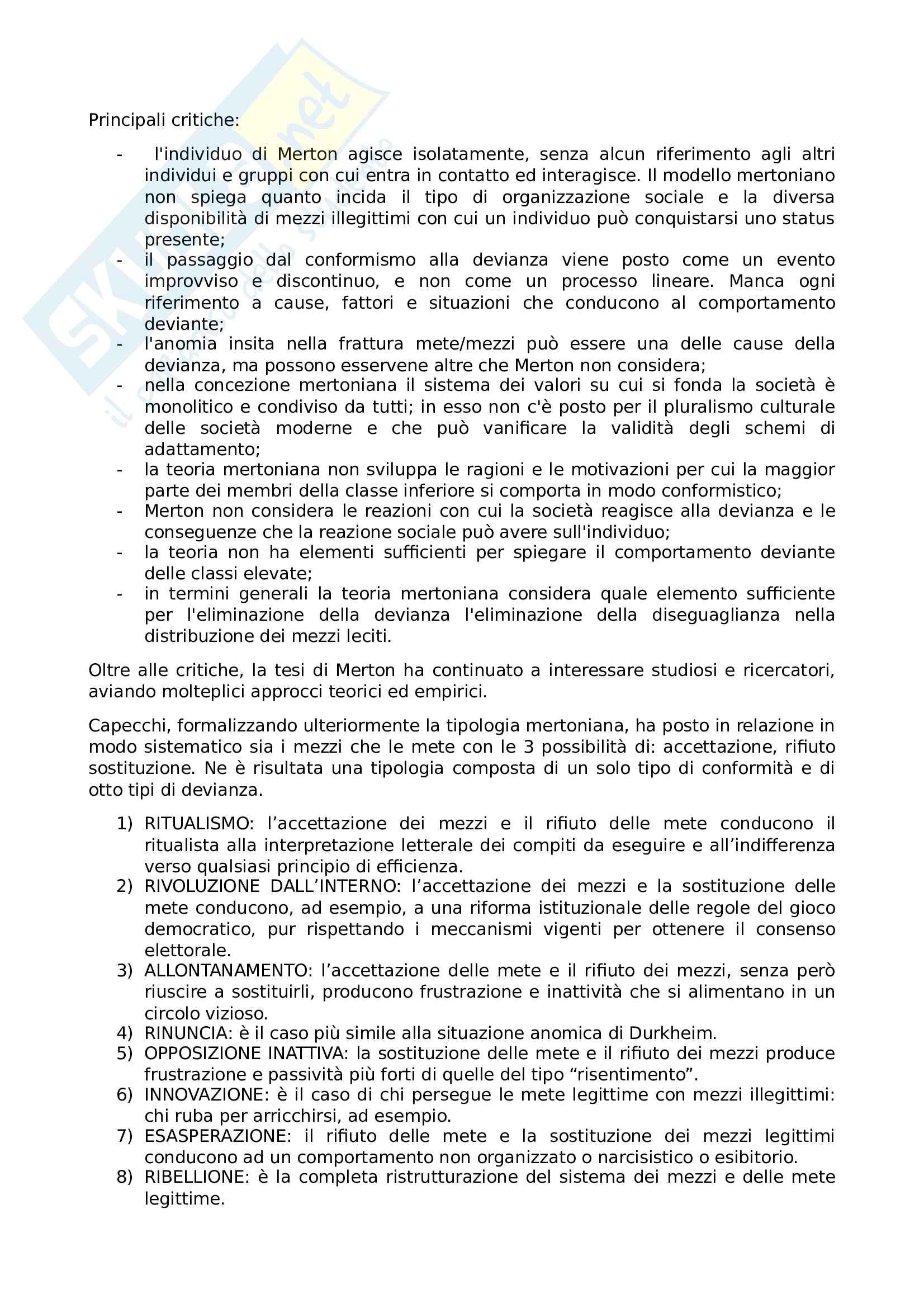 Riassunto esame Sociologia della devianza, prof Garreffa, libro consigliato Sociologia della devianza, Berzano, Prina Pag. 26