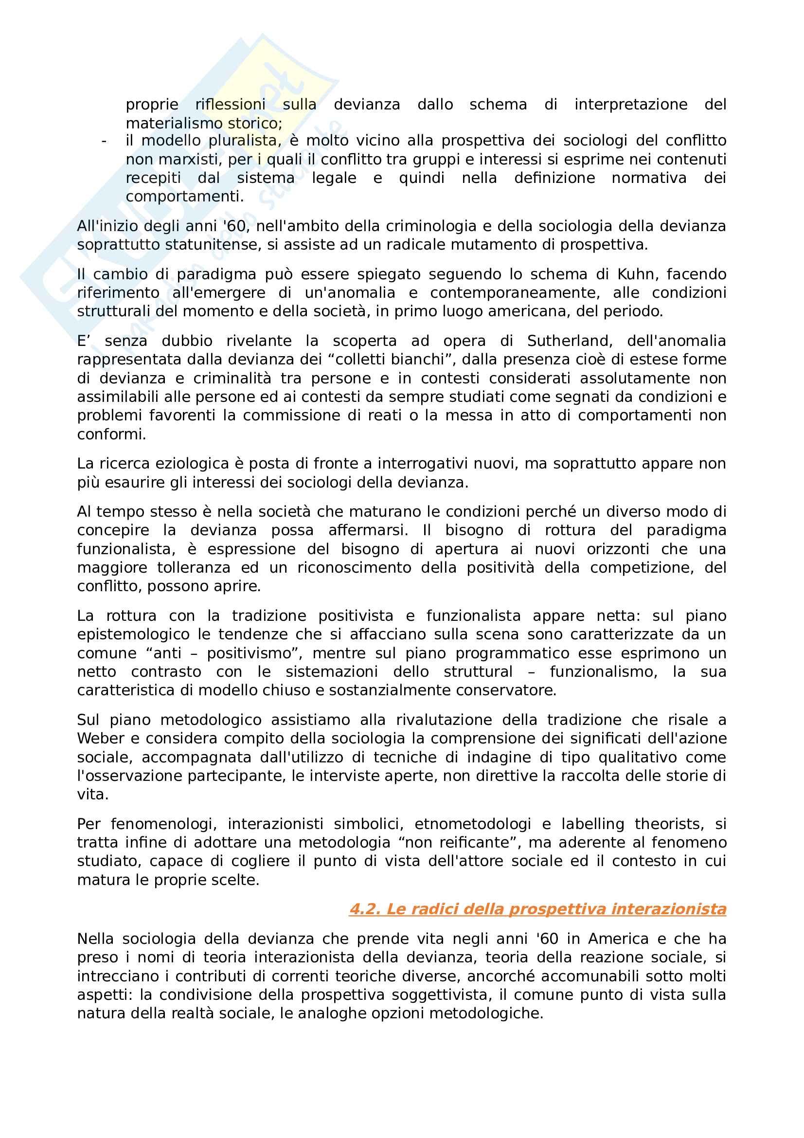 Riassunto esame Sociologia della devianza, prof Garreffa, libro consigliato Sociologia della devianza, Berzano, Prina Pag. 31