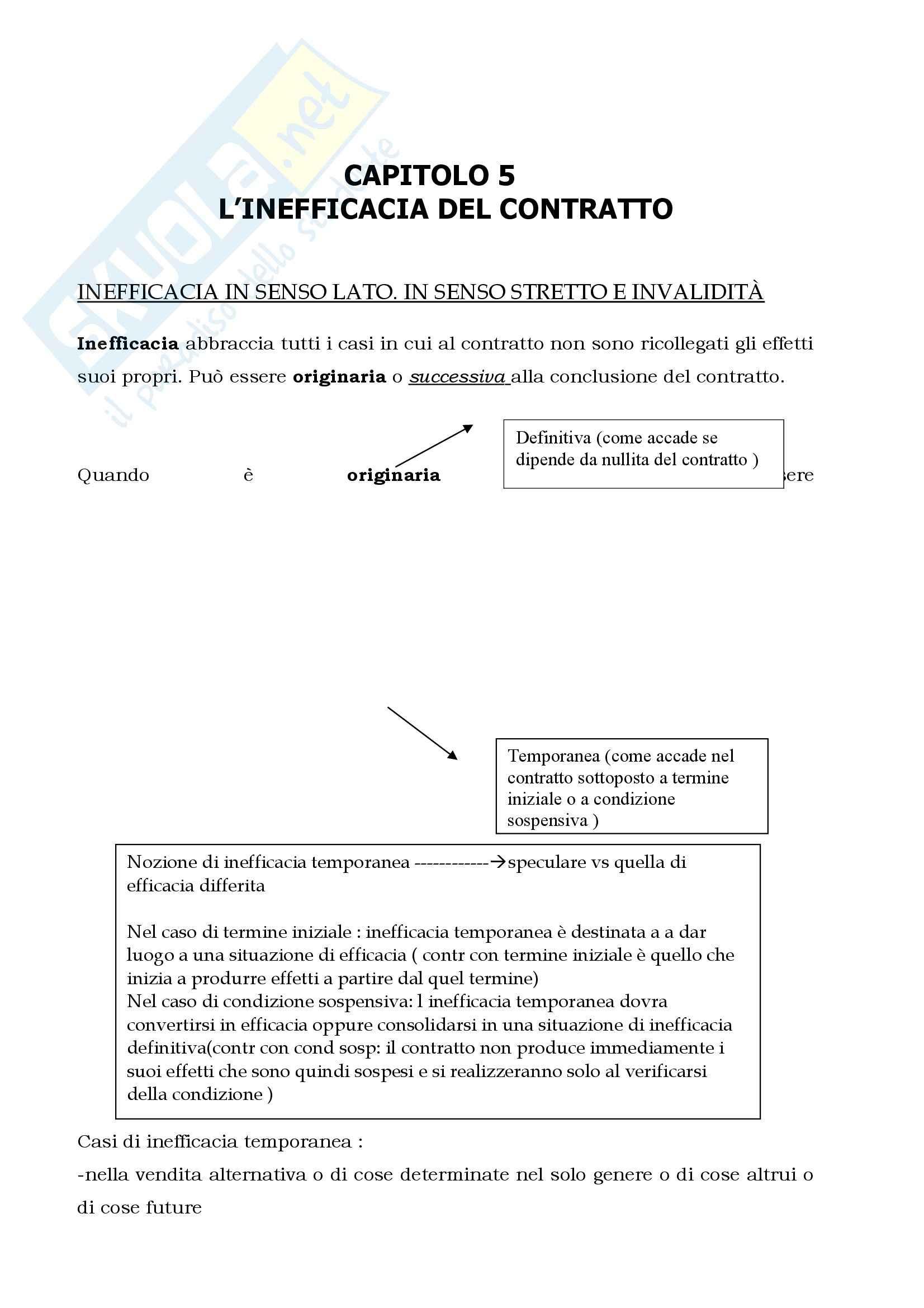 Riassunto esame Diritto Civile, prof. Cautadella, I Contratti, Cap 5