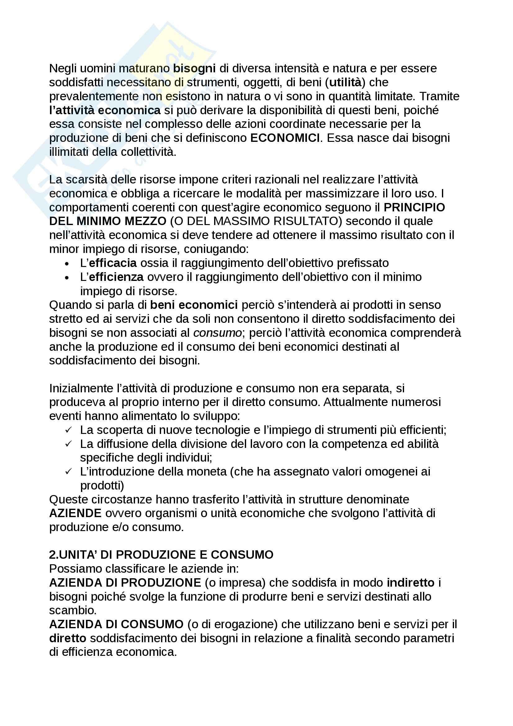 Riassunto esame Economia, prof. Adamo, libro consigliato Lineamenti di economia aziendale, Zanda Pag. 2