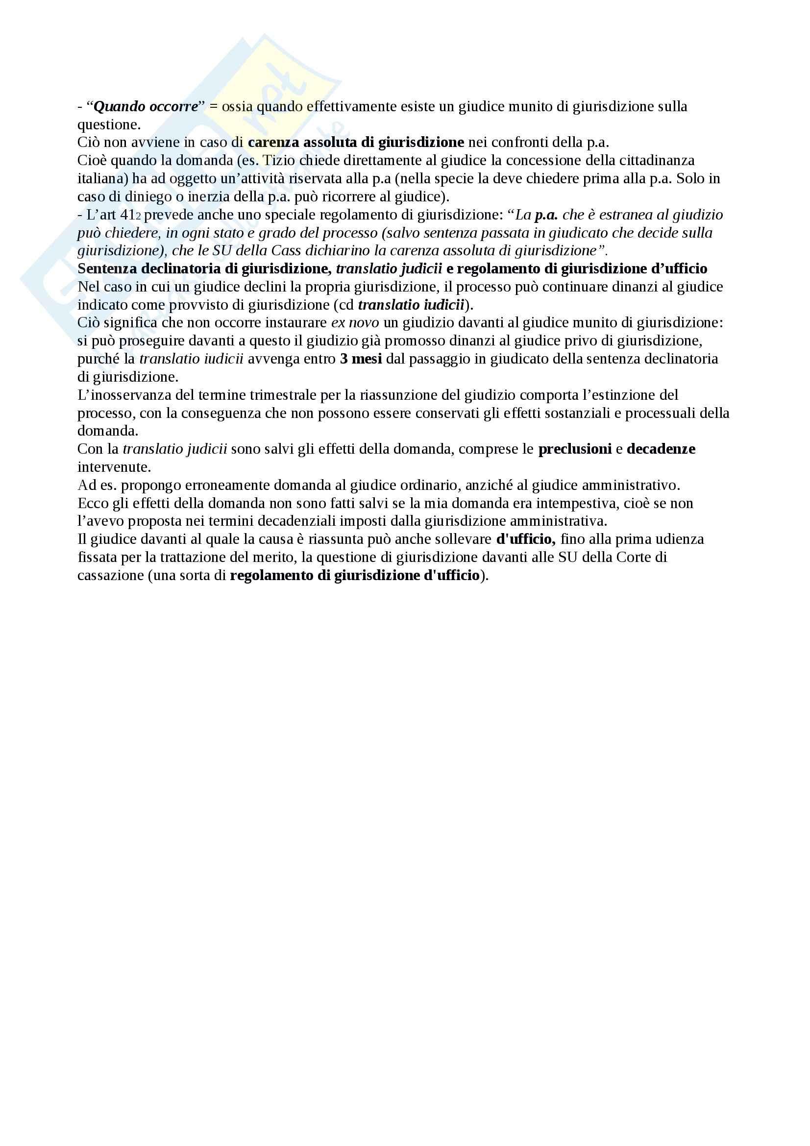 Riassunto esame Diritto Processuale Civile, prof. Sassani, libro consigliato Lineamenti del Processo Civile Italiano Pag. 11