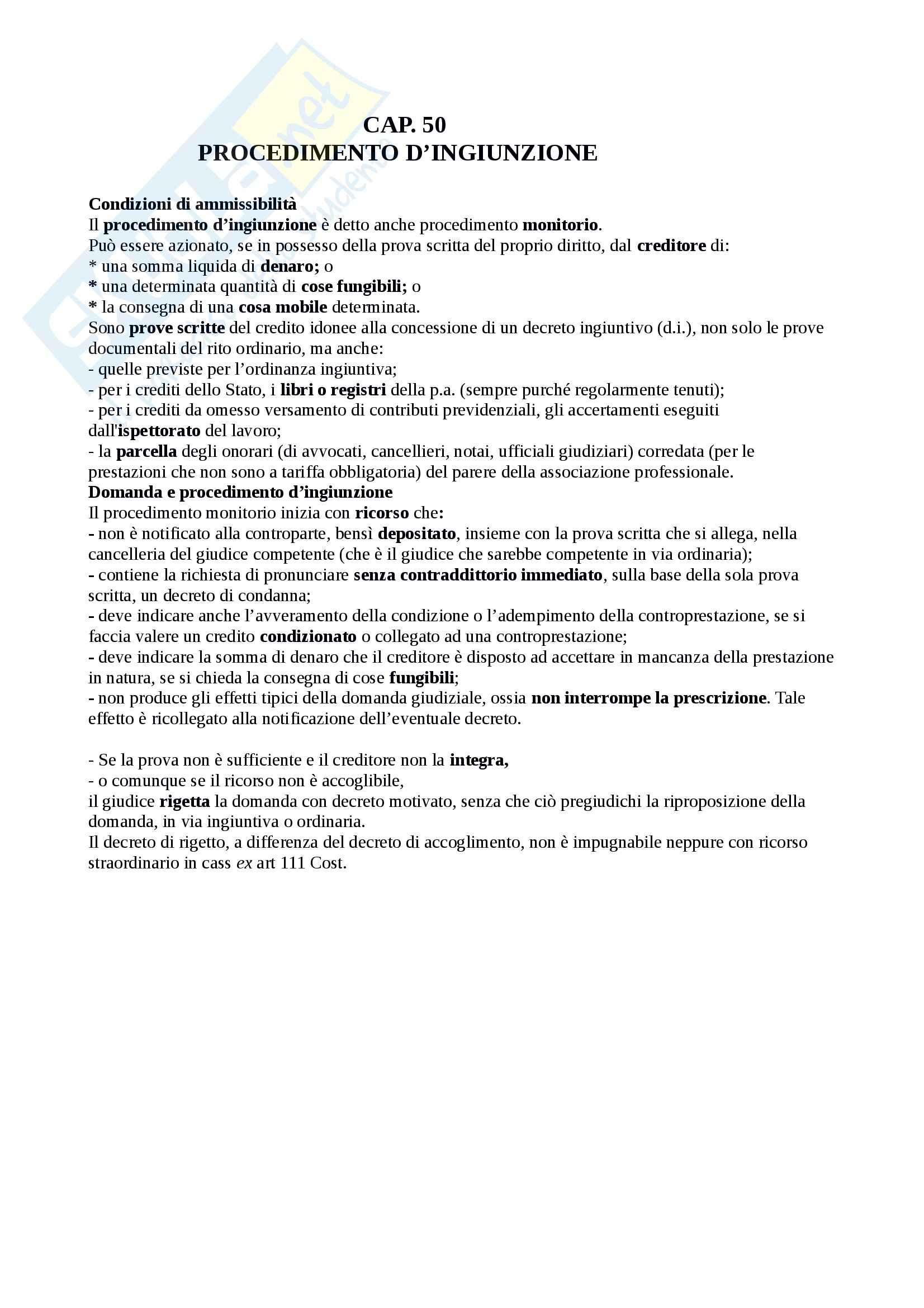Riassunto esame Diritto Processuale Civile, prof. Sassani, libro consigliato Lineamenti del Processo Civile Italiano Pag. 131