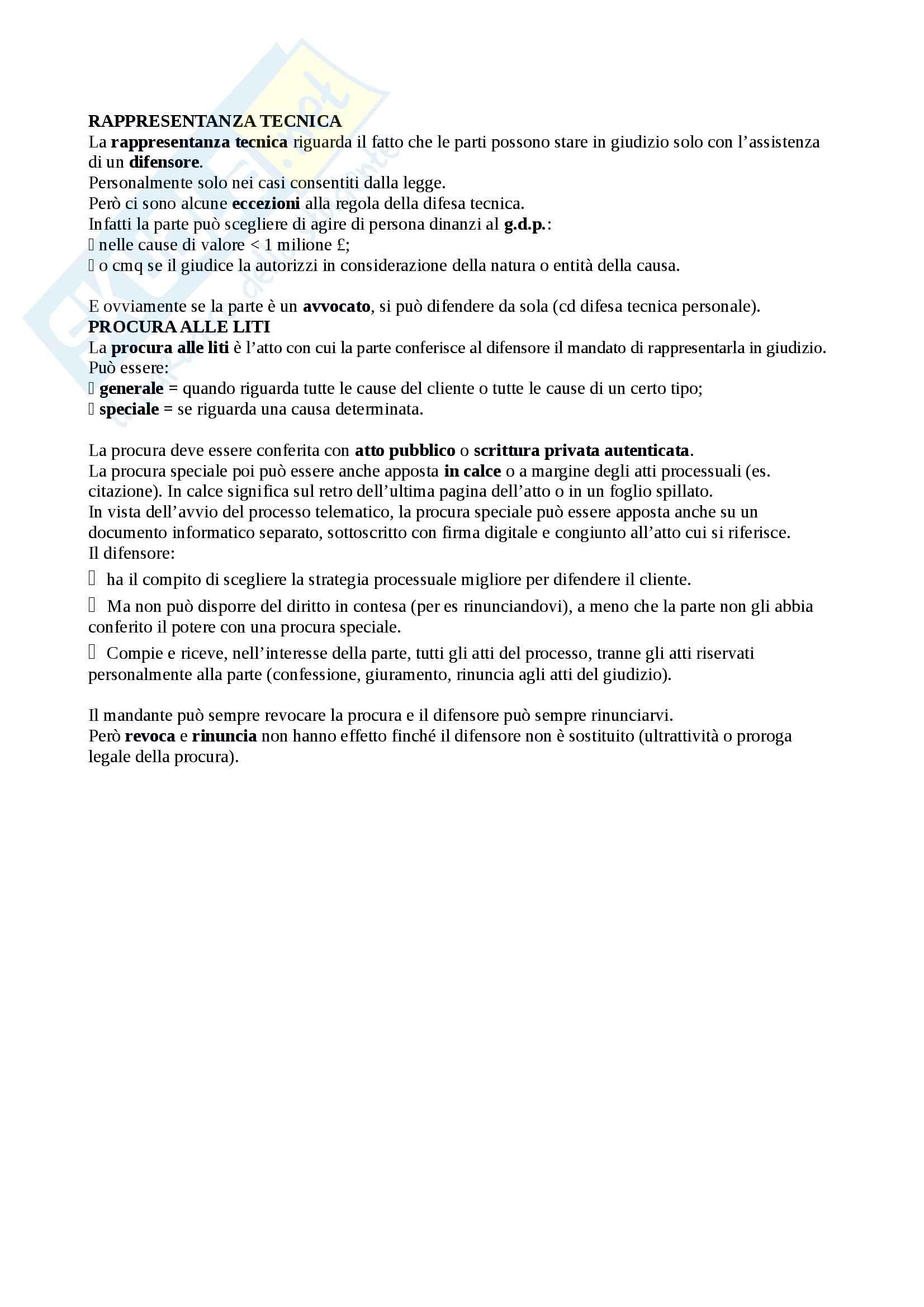 Riassunto esame Diritto Processuale Civile, prof. Sassani, libro consigliato Lineamenti del Processo Civile Italiano Pag. 16