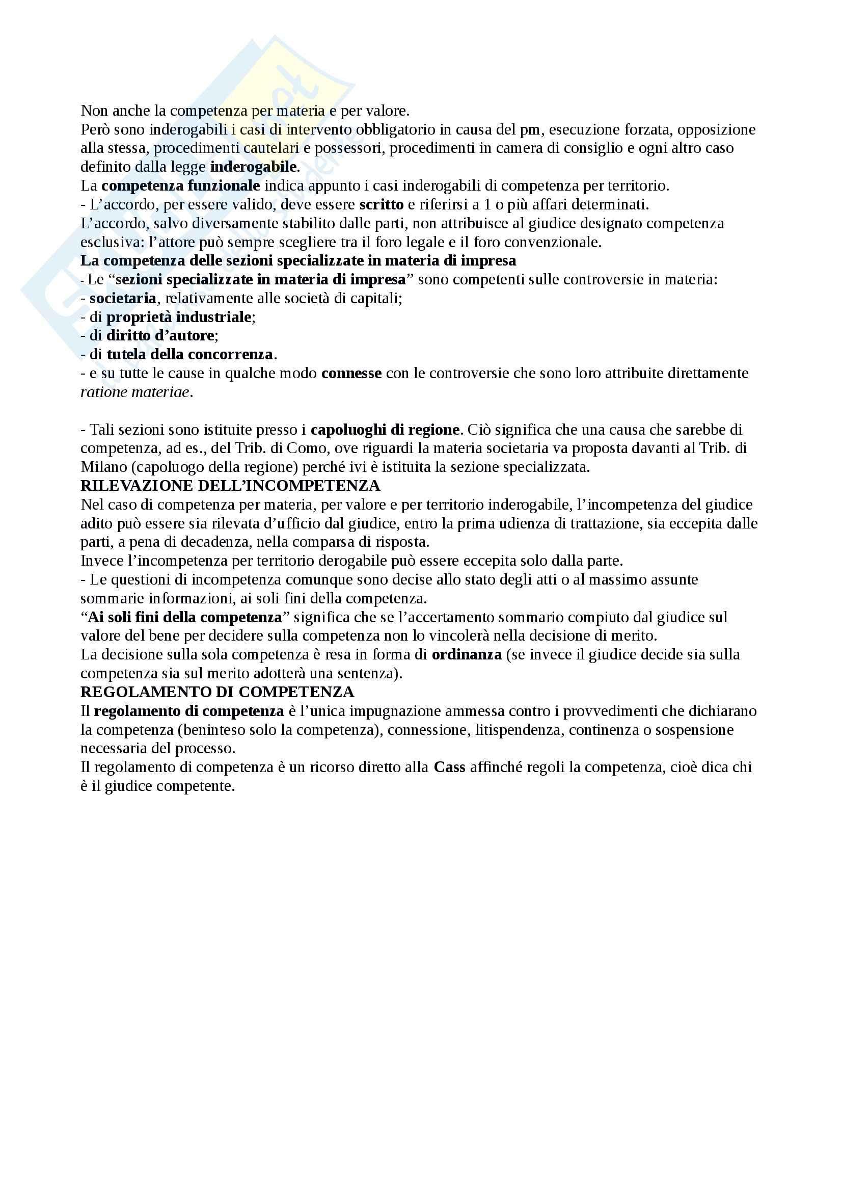 Riassunto esame Diritto Processuale Civile, prof. Sassani, libro consigliato Lineamenti del Processo Civile Italiano Pag. 31