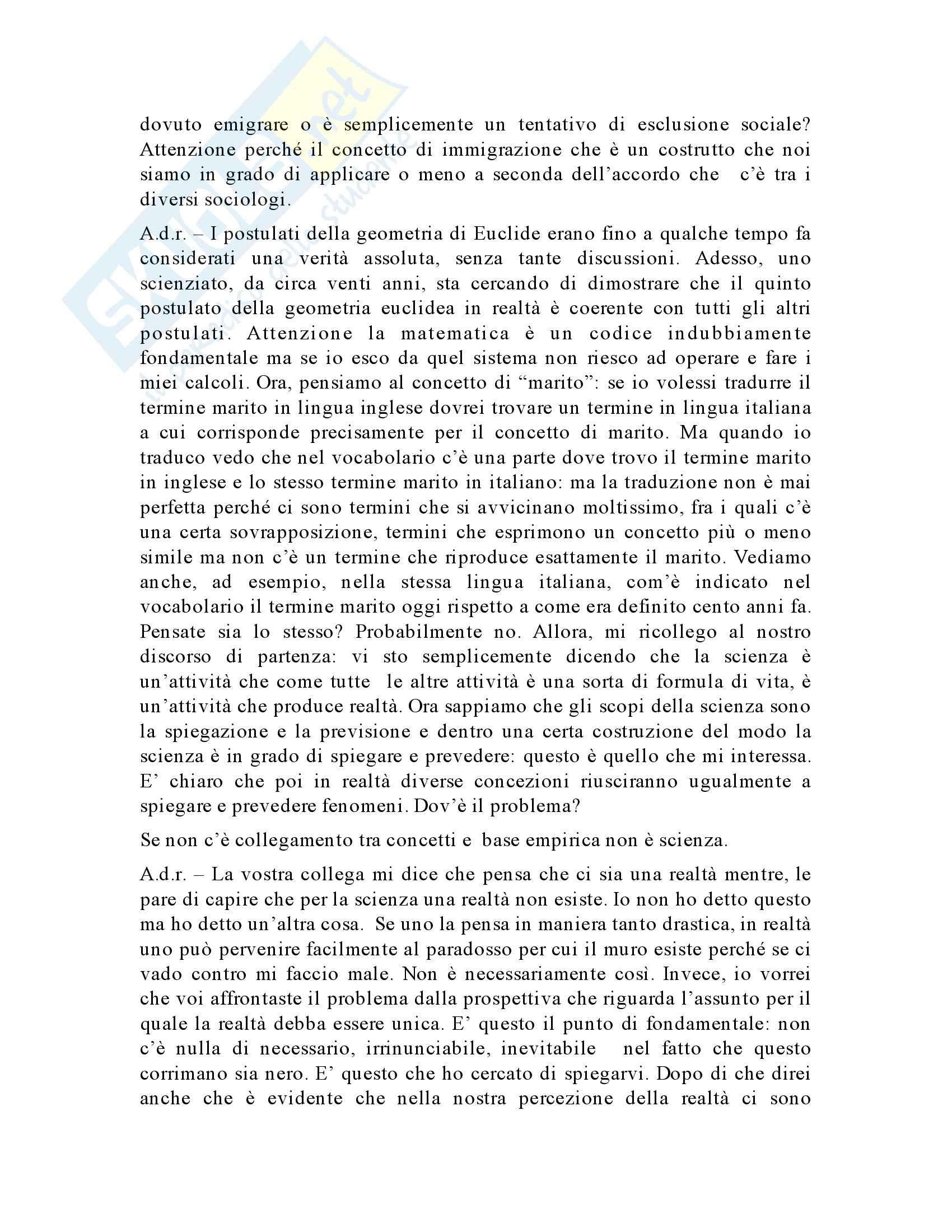 Metodologia delle scienze sociali - Appunti Pag. 21