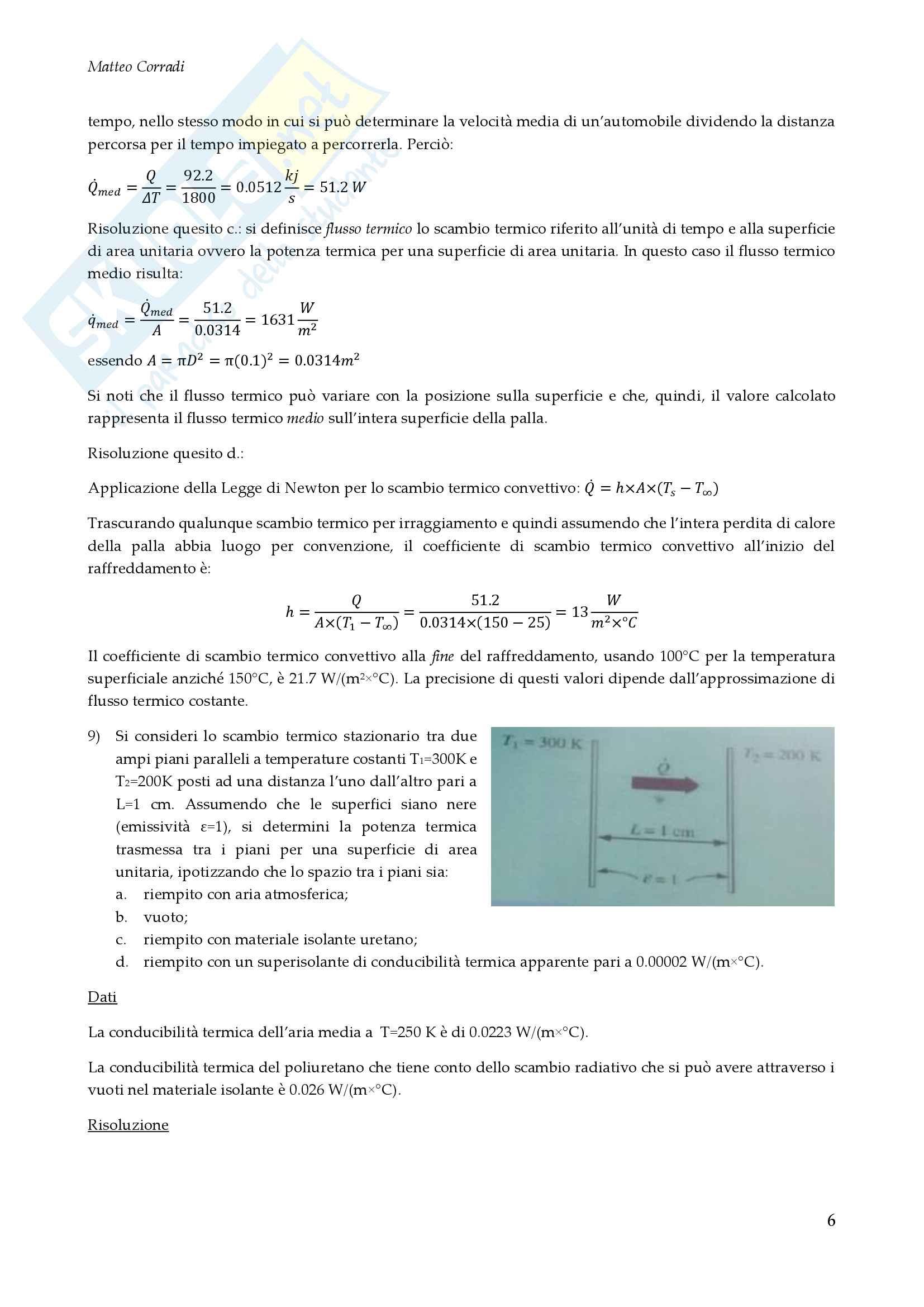 Fisica Tecnica Esercizi Risolti Pag. 6