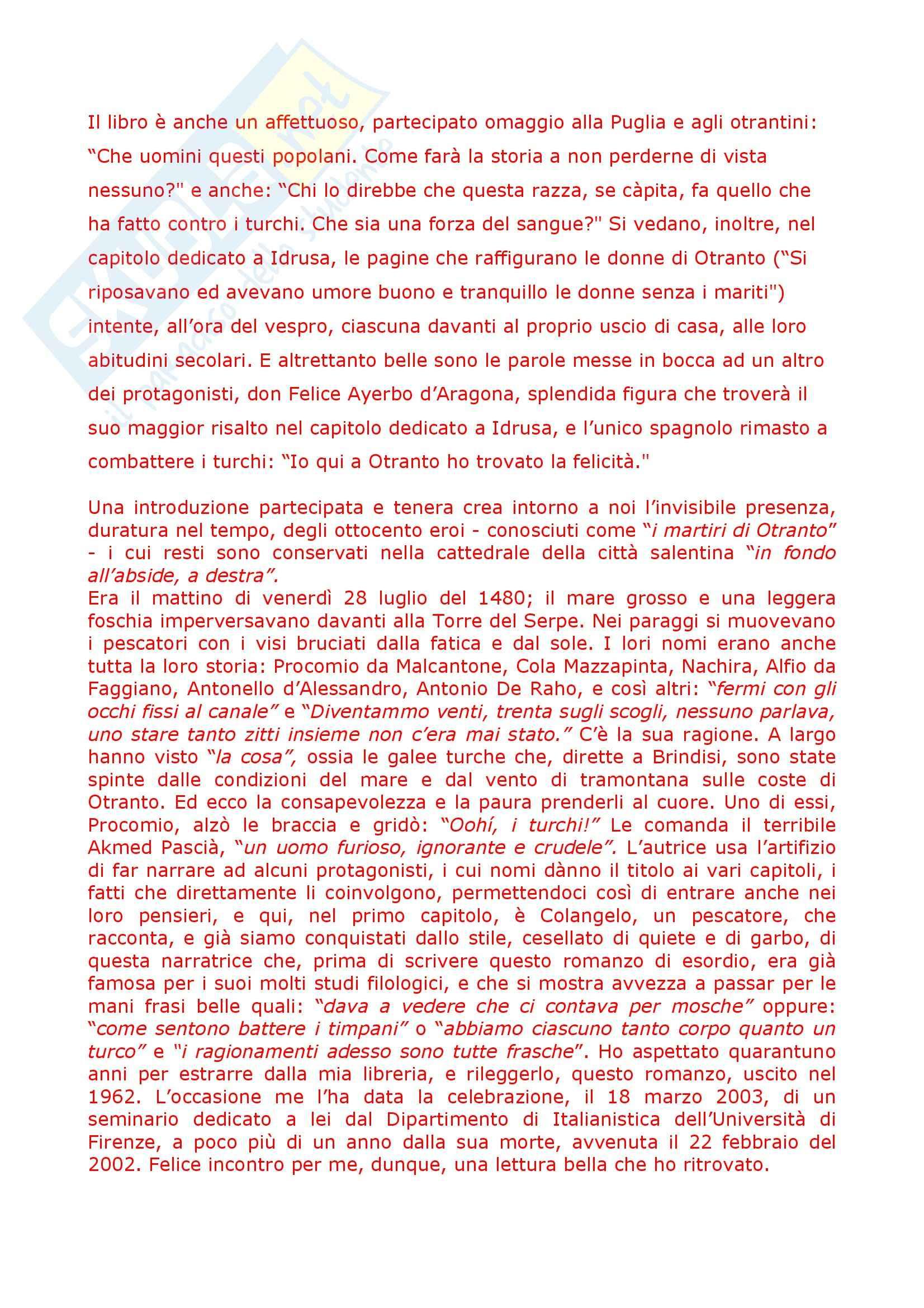 Riassunto esame Letteratura Italiana, prof. Giglio, libro consigliato L'Ora di Tutti, Corti Pag. 6
