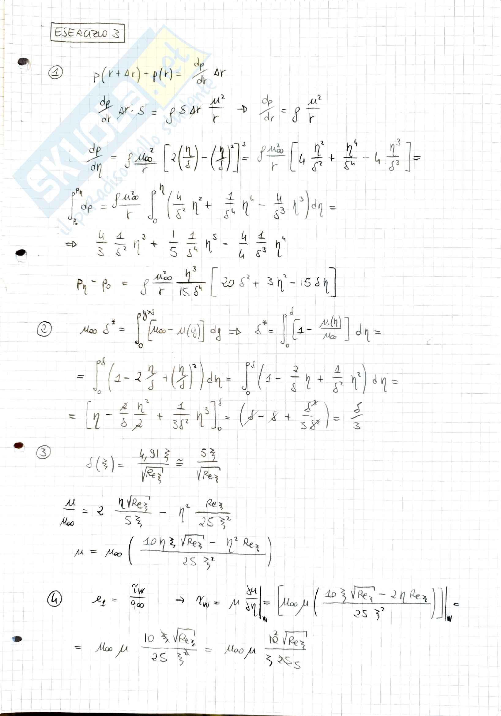 Esercizi Aerodinamica, prof. Stalio