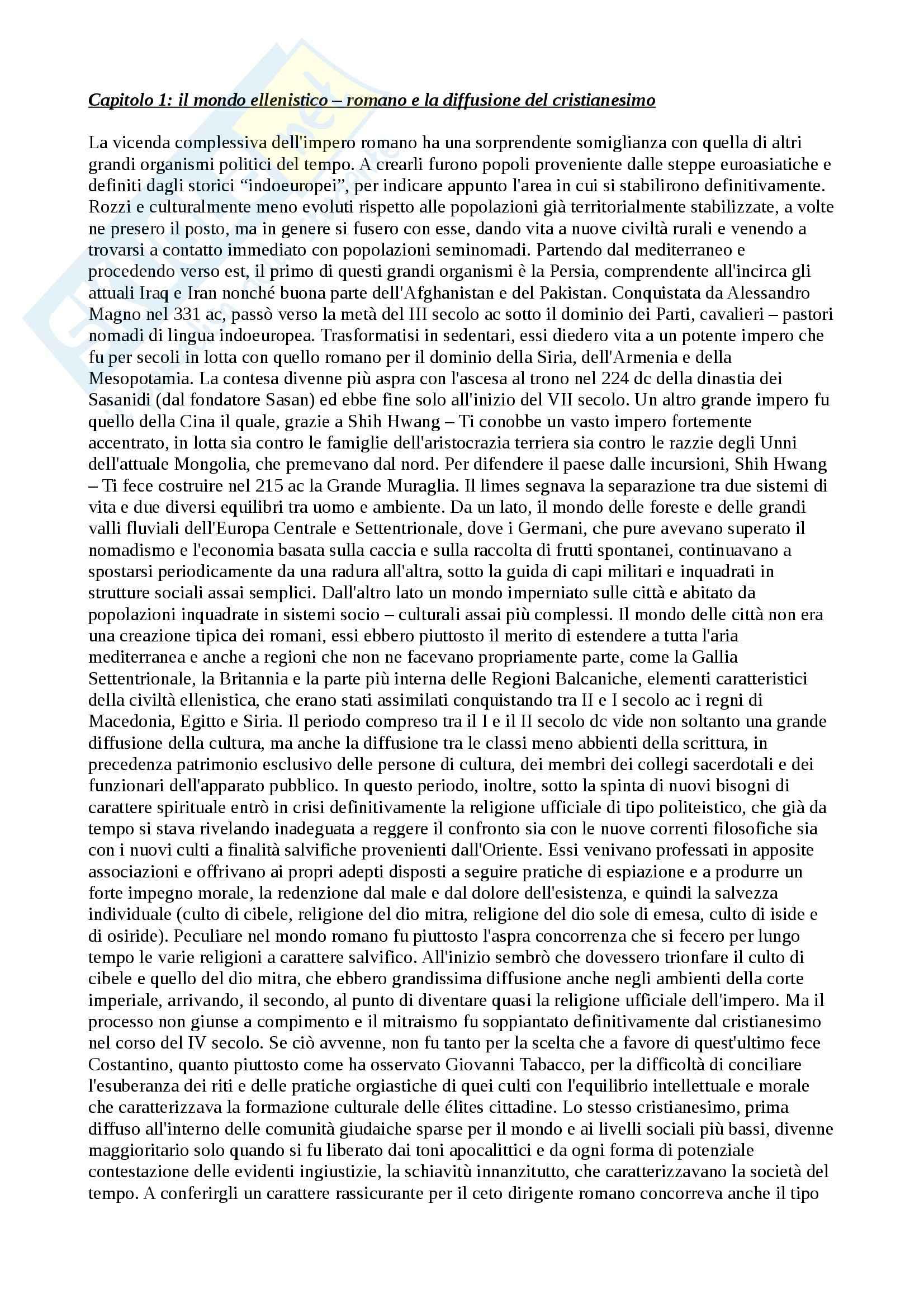 Riassunto esame Storia medievale prof. Ronzani, libro consigliato Medioevo, Vitolo