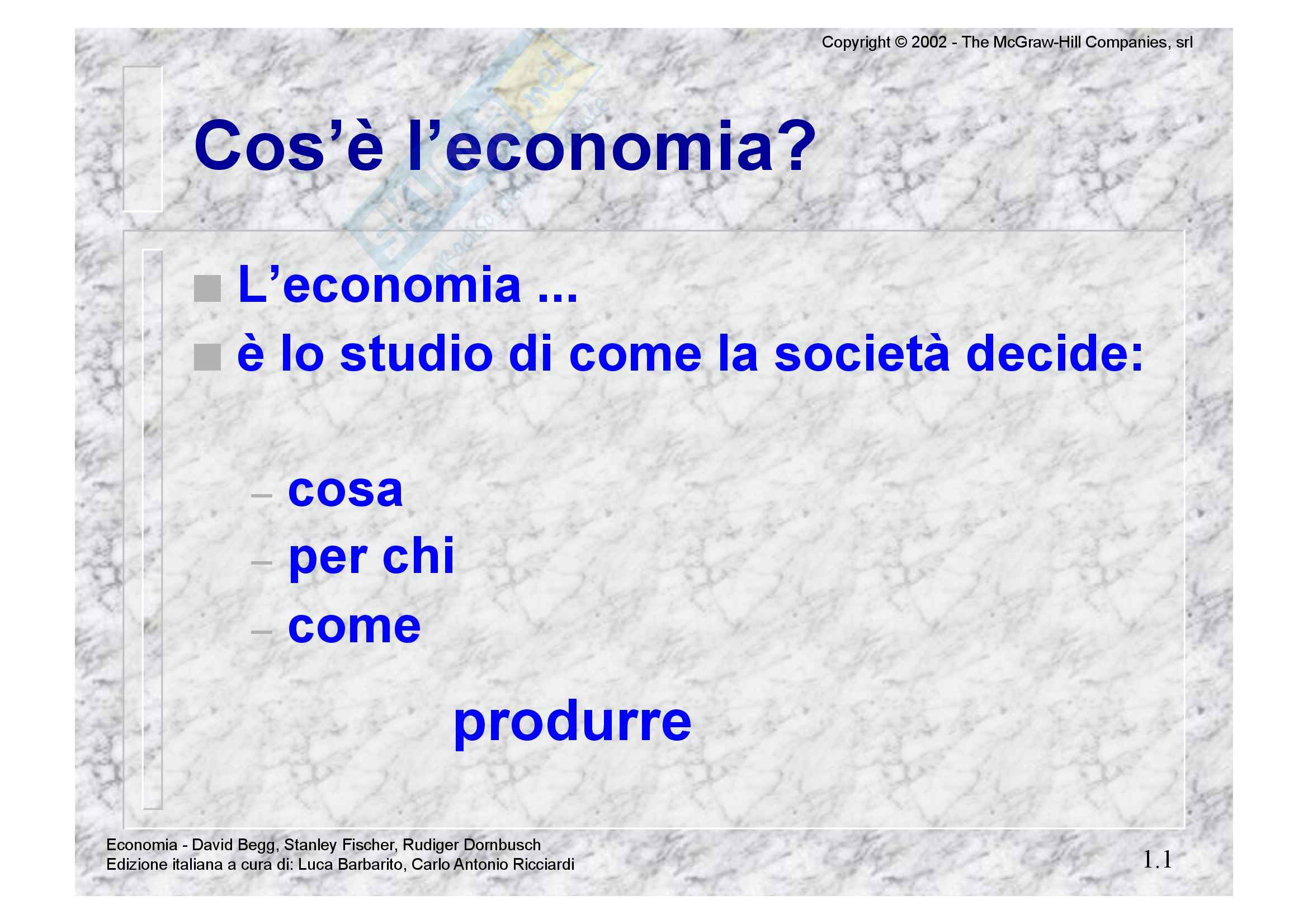 Istituzioni di economia - Beggs - Appunti