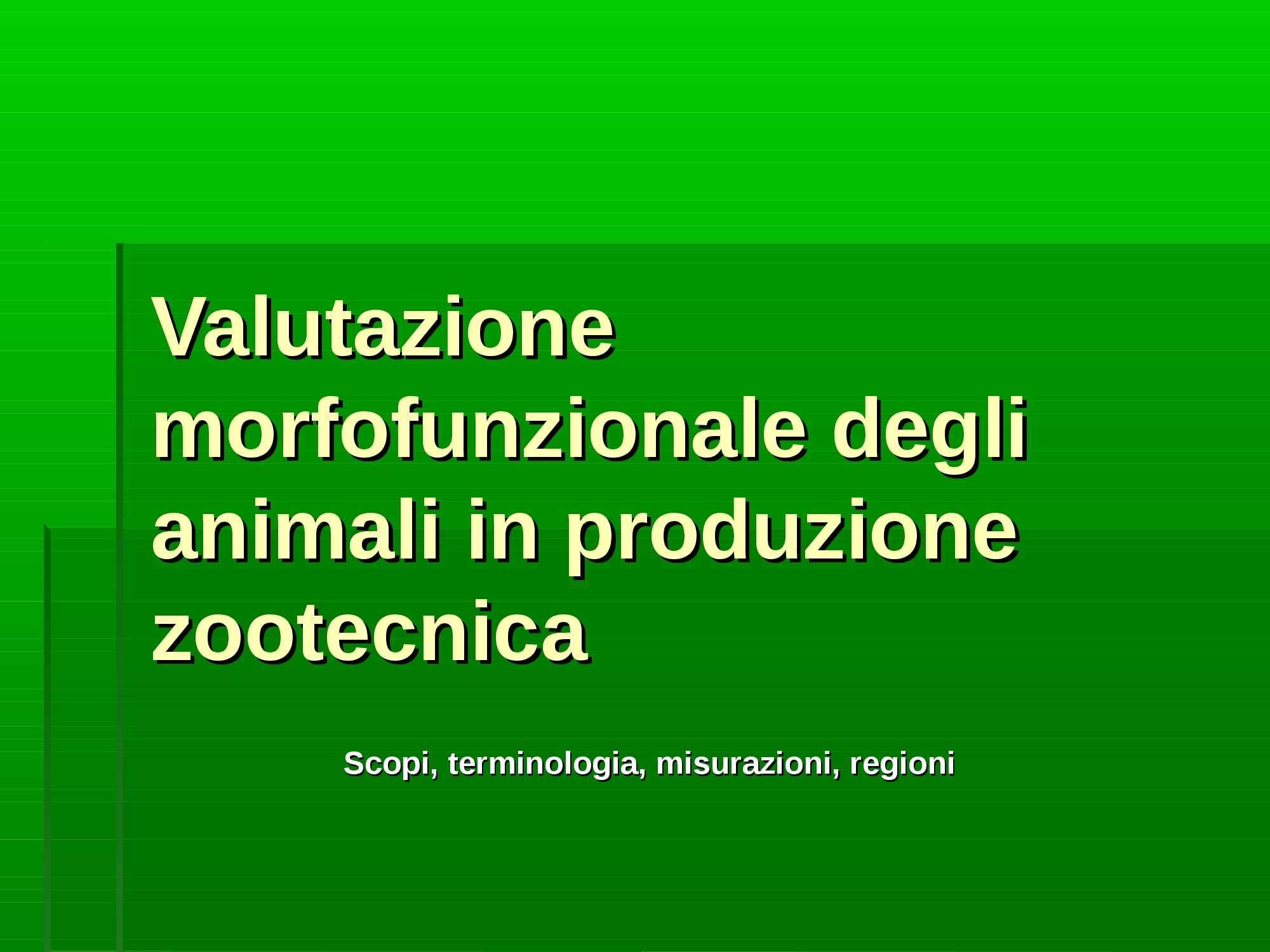 Zootecnia - Misurazioni biometriche