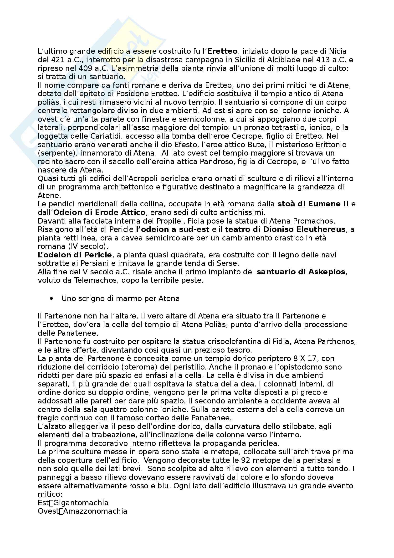 Riassunto esame Arte e Archeologia Greca, prof. Bejor, libro consigliato Arte Greca: Dal decimo al primo secolo a.C di Bejor, Castoldi e Lambrugo Pag. 41