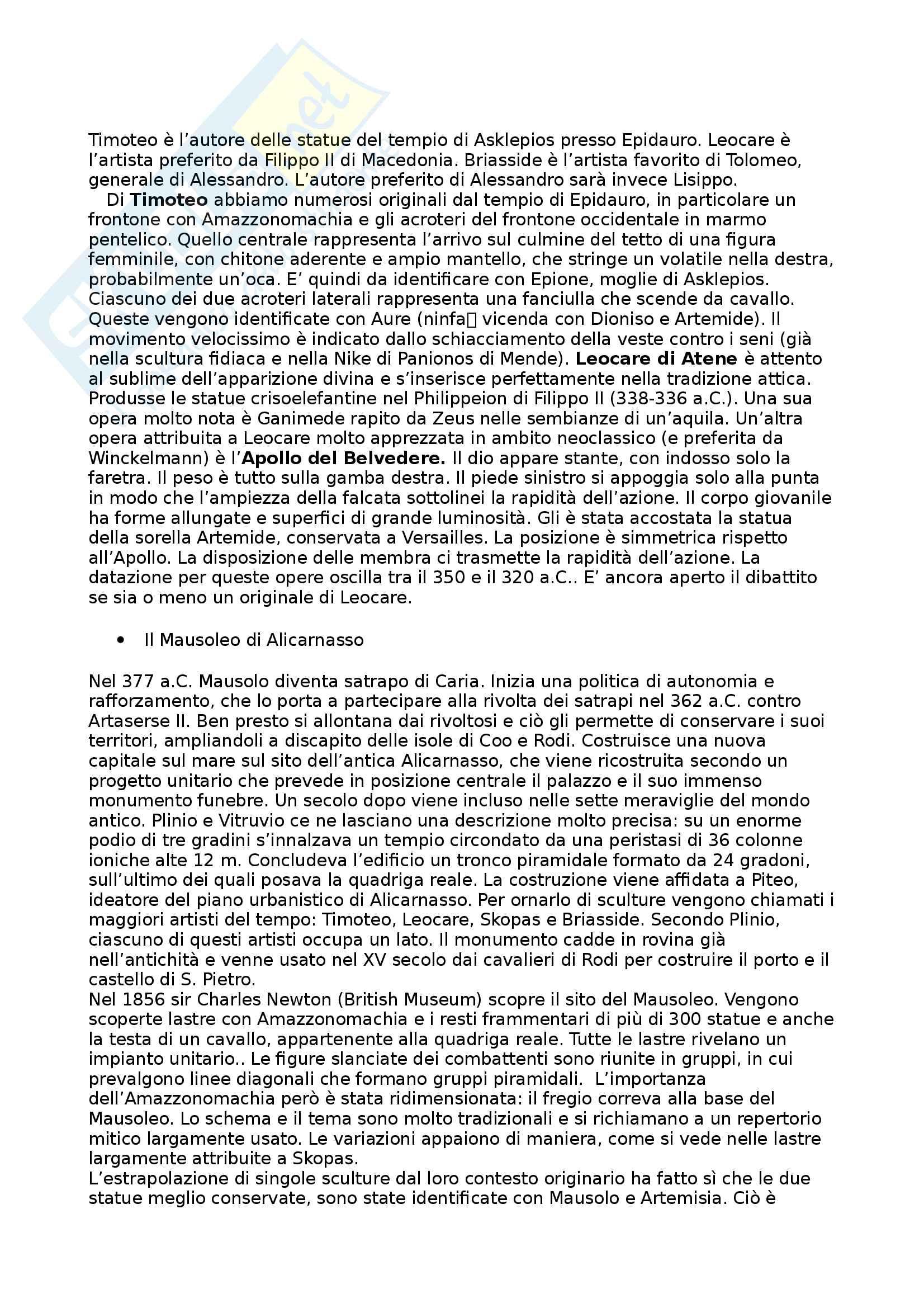 Riassunto esame Arte e Archeologia Greca, prof. Bejor, libro consigliato Arte Greca: Dal decimo al primo secolo a.C di Bejor, Castoldi e Lambrugo Pag. 51