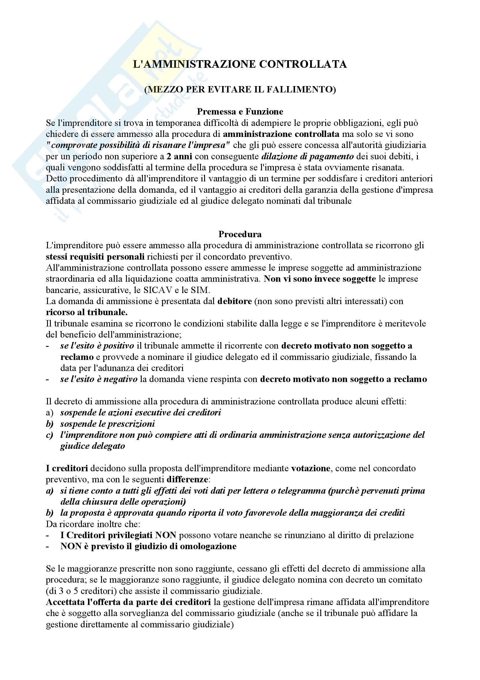 Diritto commerciale, Auletta Salanitro - Schemi