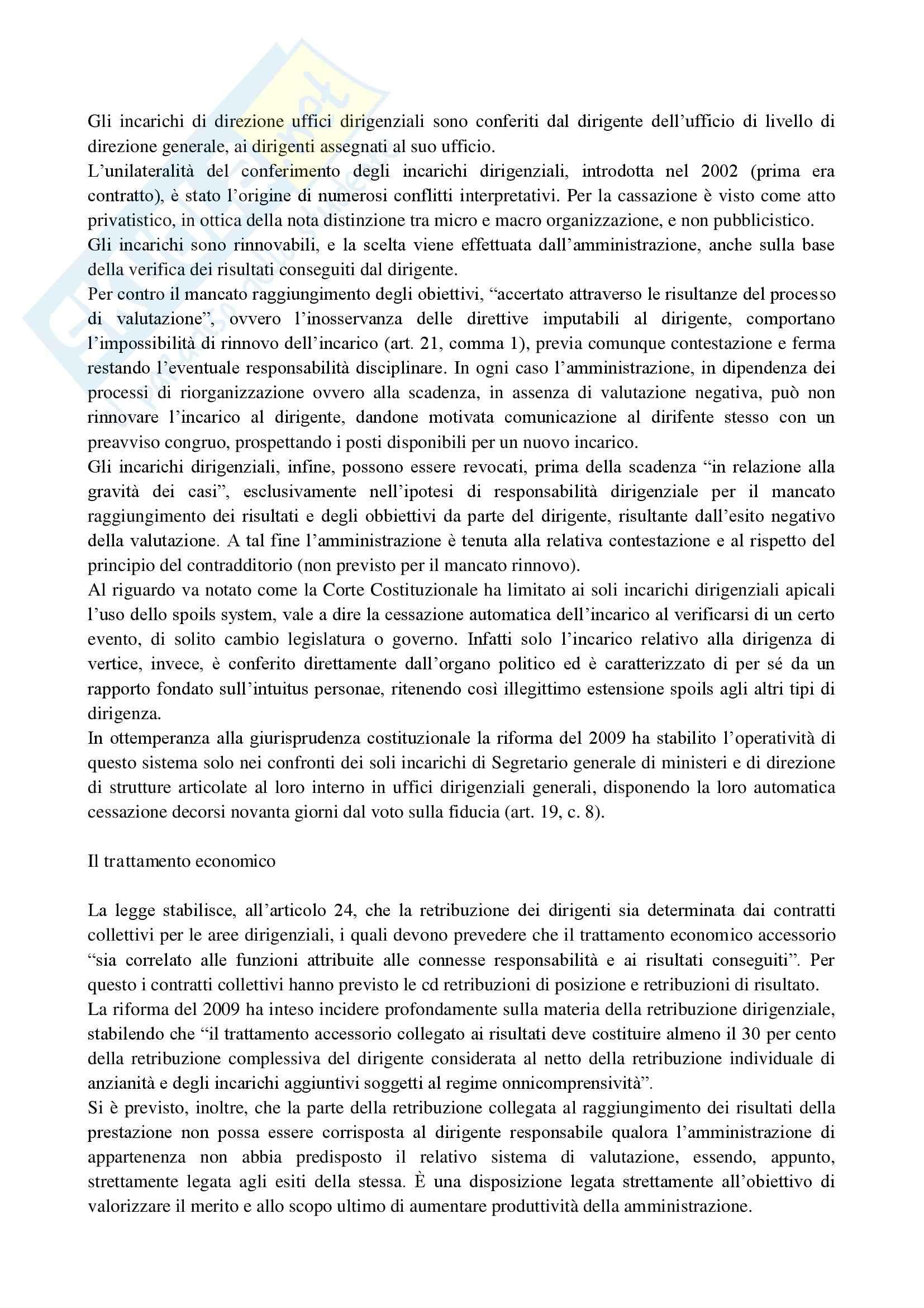 Riassunto esame Diritto del Lavoro nelle P.A., prof. D'Alessio, libro consigliato Il Lavoro Pubblico in Italia di Carabelli e Carinci Pag. 26