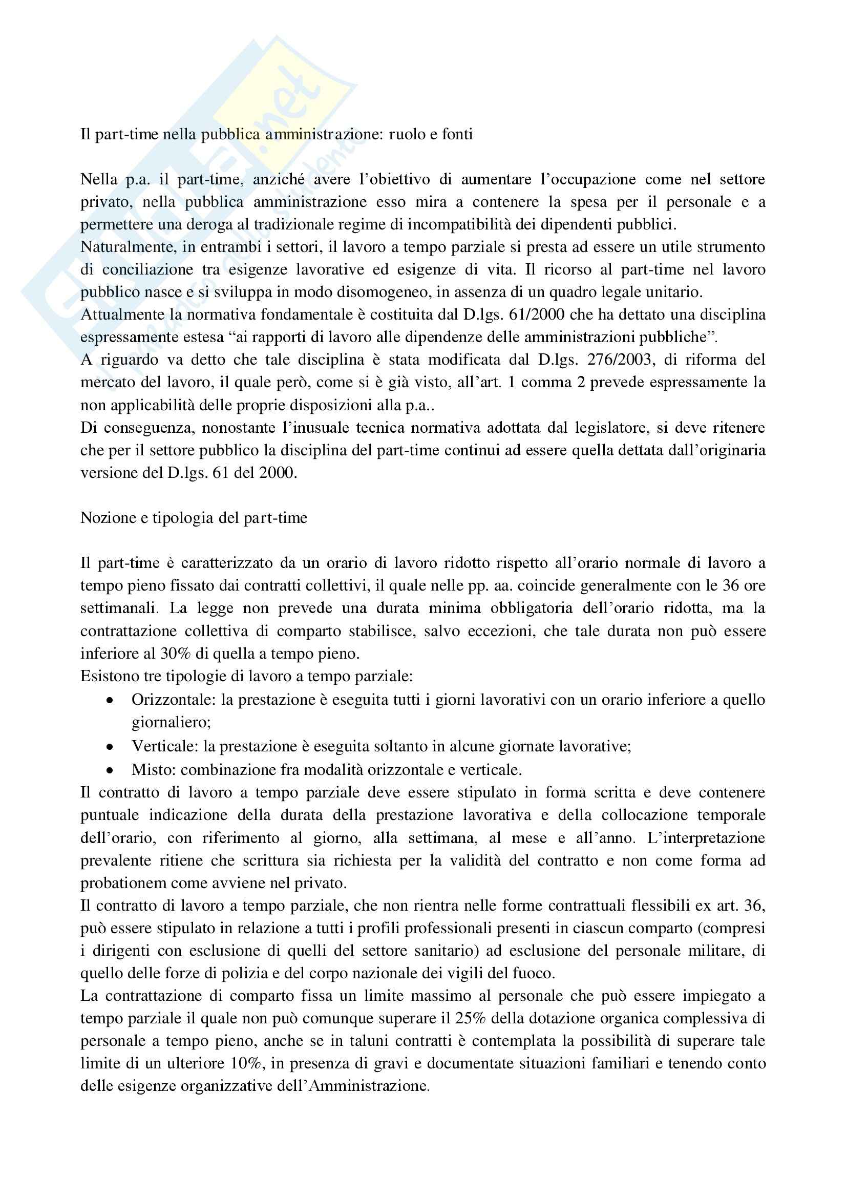 Riassunto esame Diritto del Lavoro nelle P.A., prof. D'Alessio, libro consigliato Il Lavoro Pubblico in Italia di Carabelli e Carinci Pag. 51