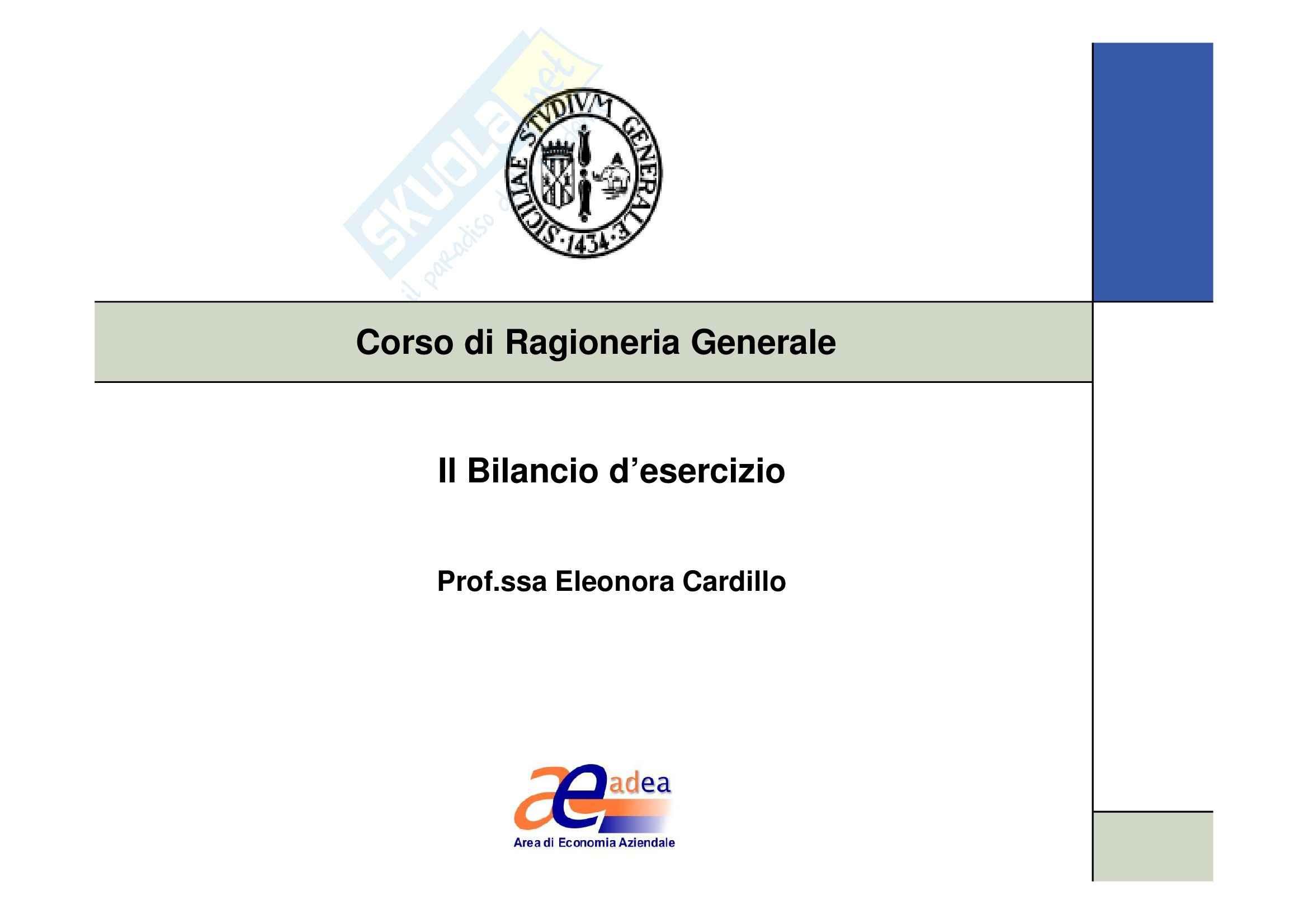 Ragioneria generale - il bilancio d'esercizio Pag. 1