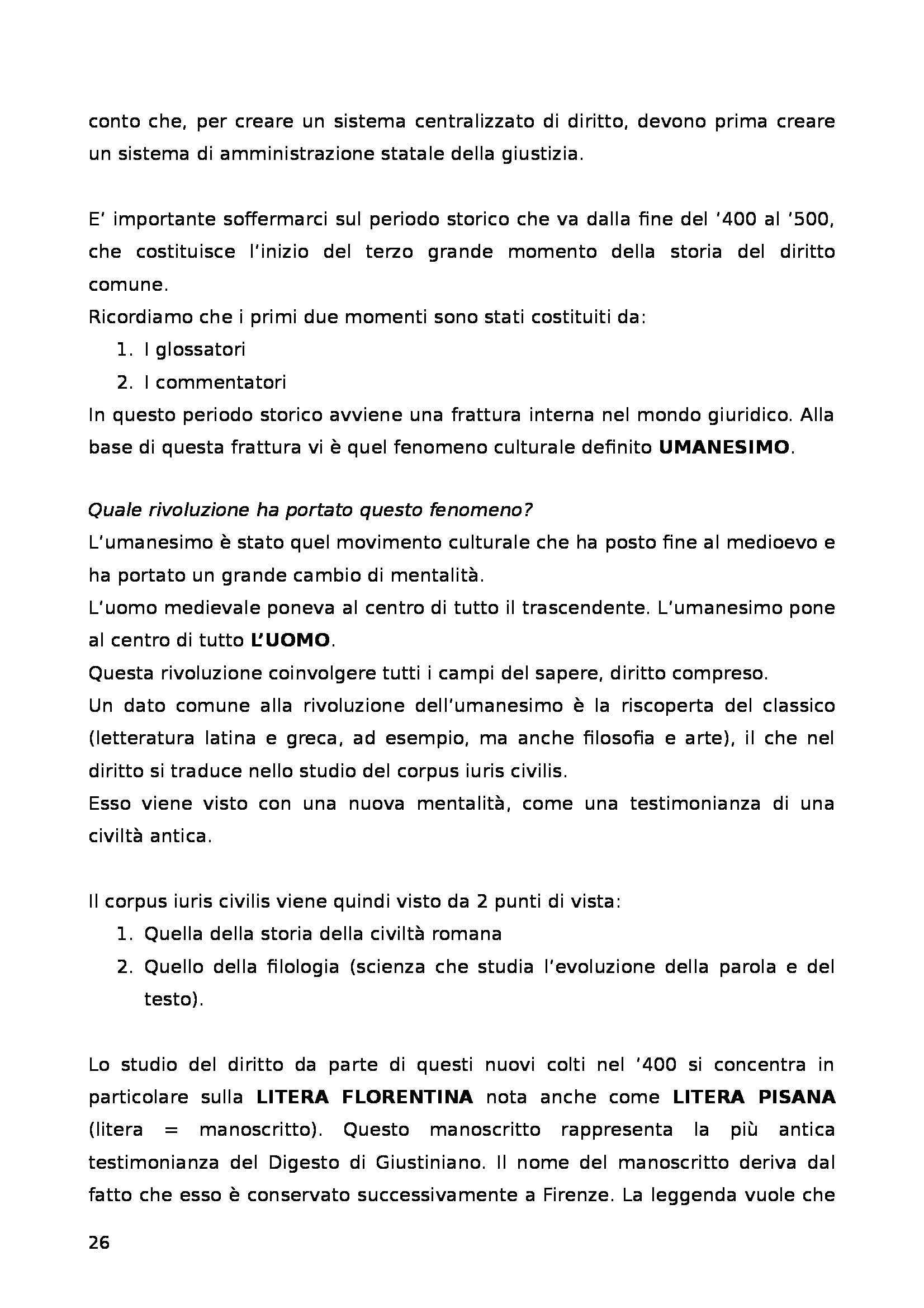 Storia del diritto italiano - Lezioni complete Dezza Pag. 26