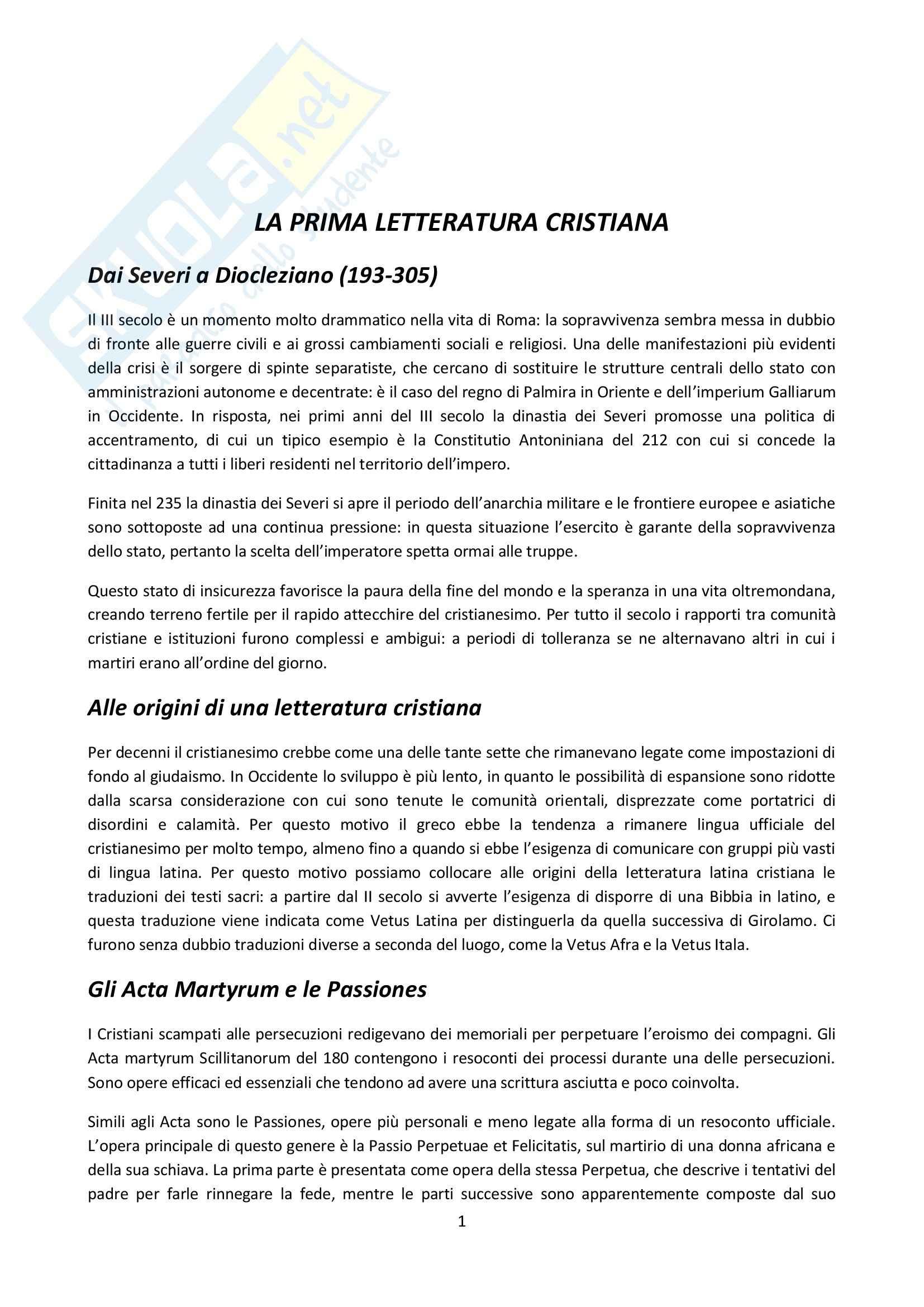 Riassunto esame Letteratura latina, prof. Delvigo, libro consigliato Letteratura latina: la tarda età imperiale, Conte