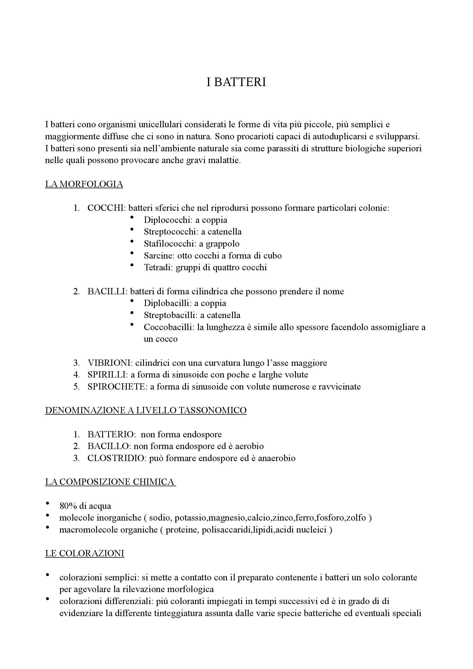 appunto D. Abate Microbiologia