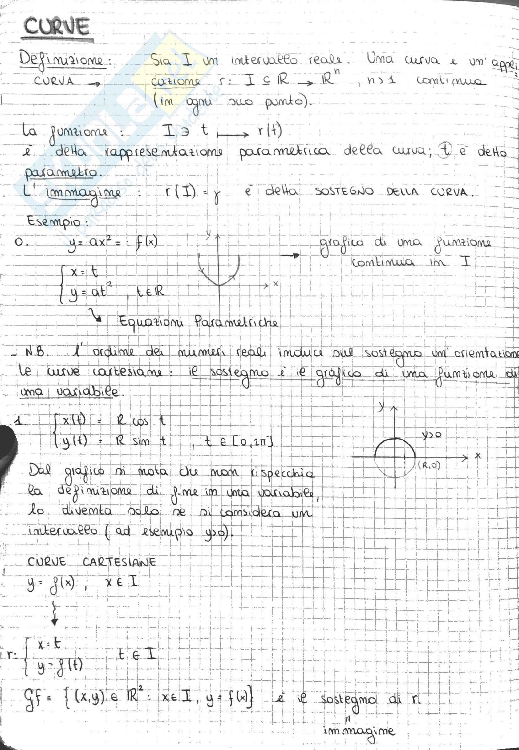 Analisi 2 (parte 1) - Appunti