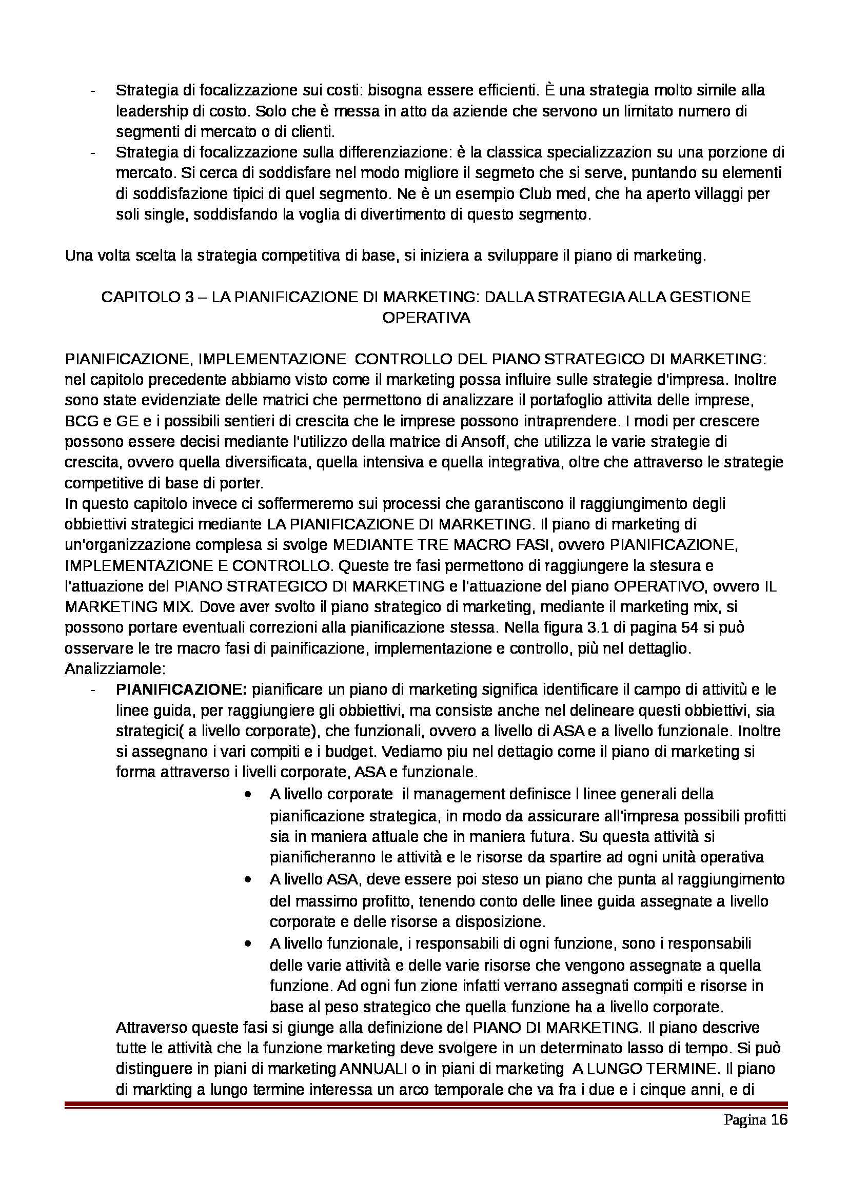 Riassunto esame Marketing, prof. Pellegrini, libro consigliato Marketing, Kerin, Hartley, Rudelius, Pellegrini Pag. 16