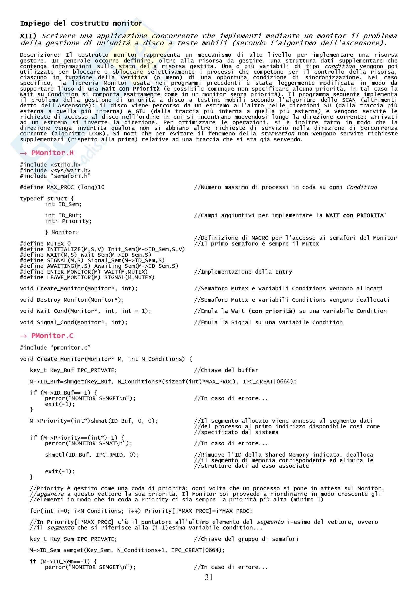Tesine sui sistemi operativi Pag. 31