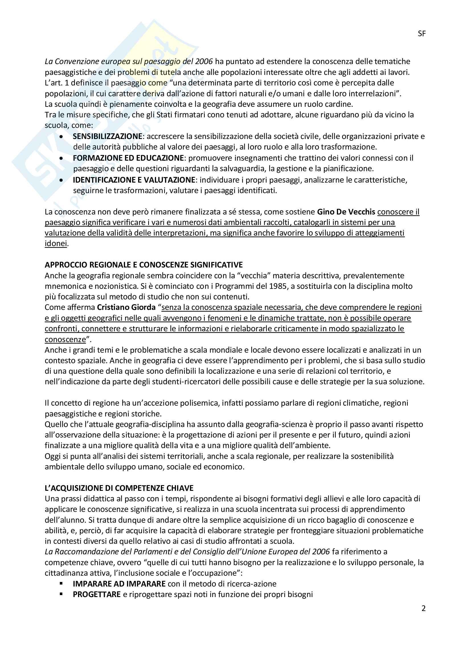 Riassunto esame geografia, docente Molinari, libro consigliato La geografia dell'Italia,Pasquinelli, d'Allegra Pag. 2