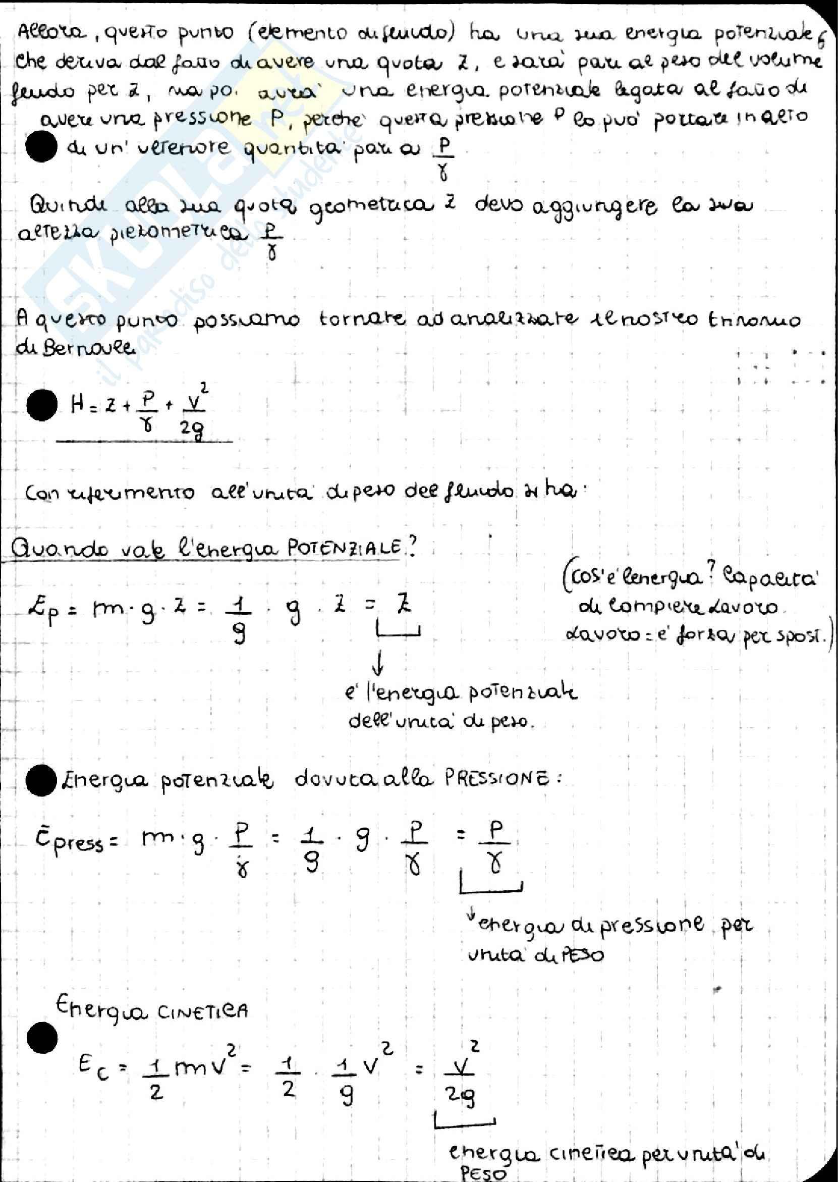 Teorema di Bernoulli, Idraulica Pag. 11