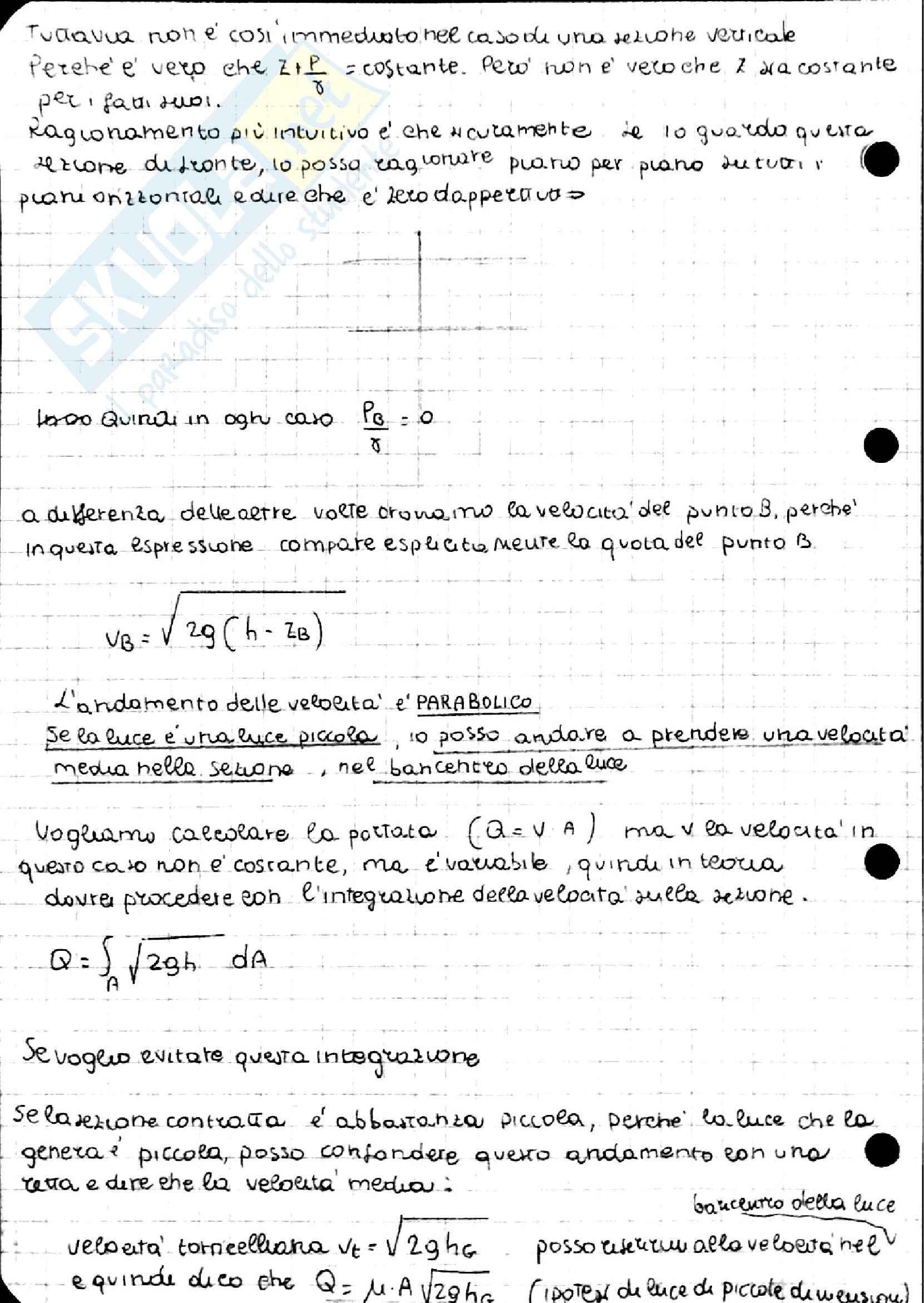Teorema di Bernoulli, Idraulica Pag. 26