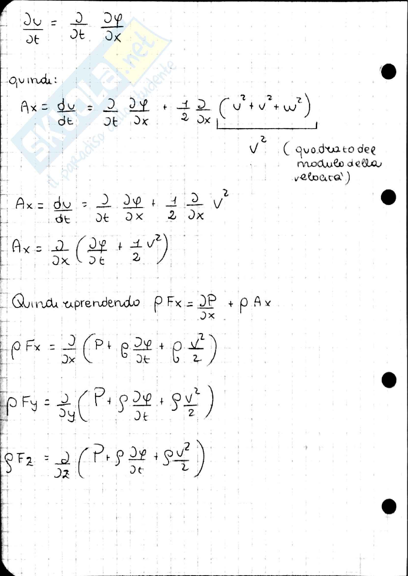 Teorema di Bernoulli, Idraulica Pag. 61