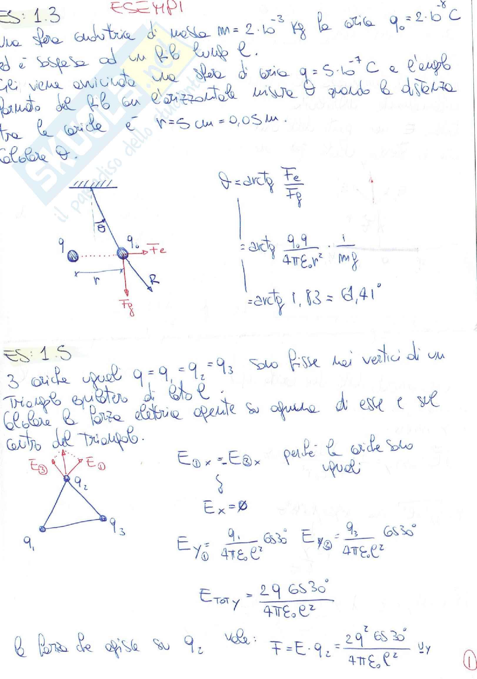 Fisica 2 - Solo Esercizi Svolti e Commentati Pag. 2
