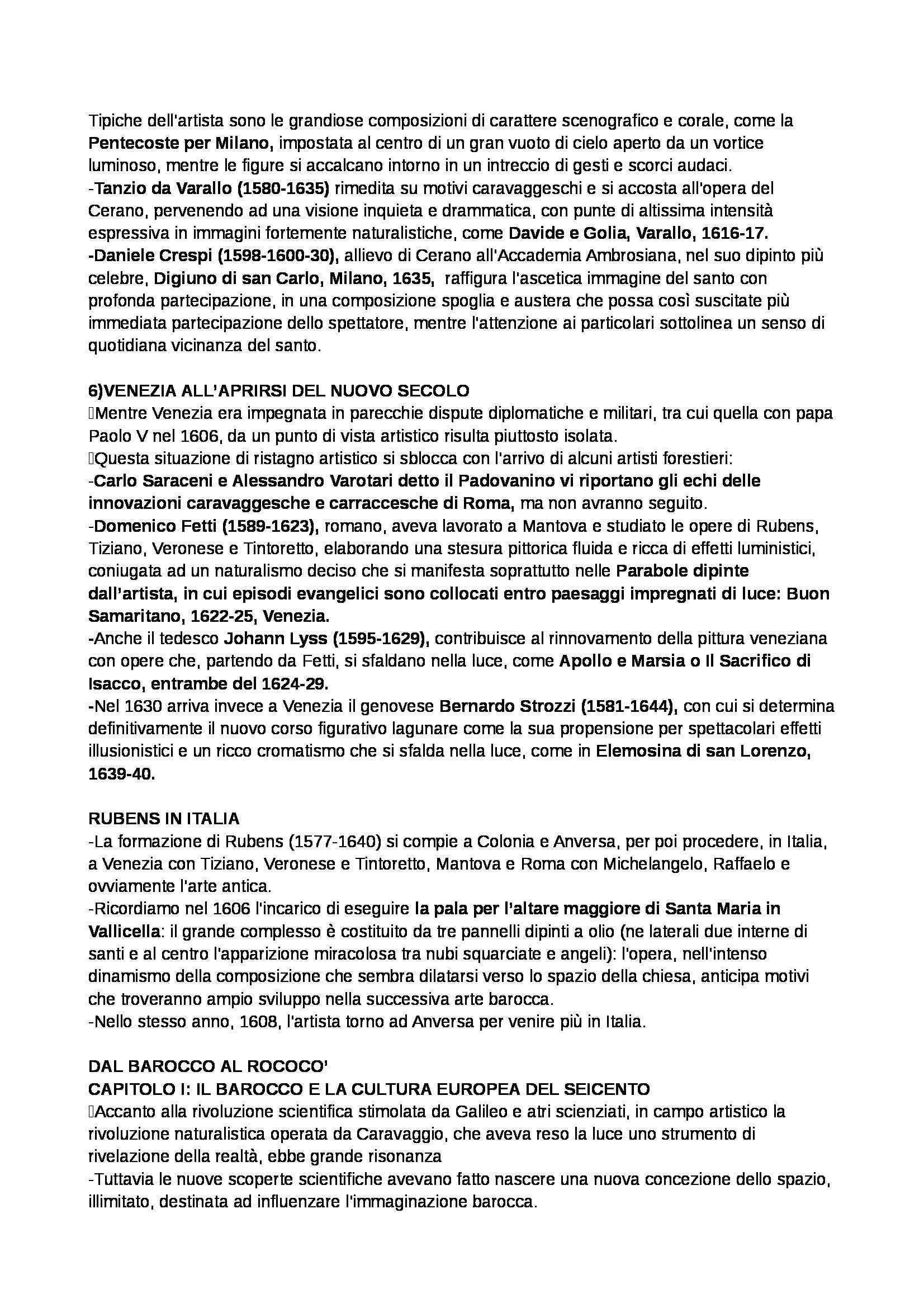 Riassunto esame Storia dell'arte moderna, prof. Benati, libro consigliato Arte nel tempo. Volume 2 -Tomo 2. Dalla crisi della Maniera al Rococò, De Vecchi Pag. 21