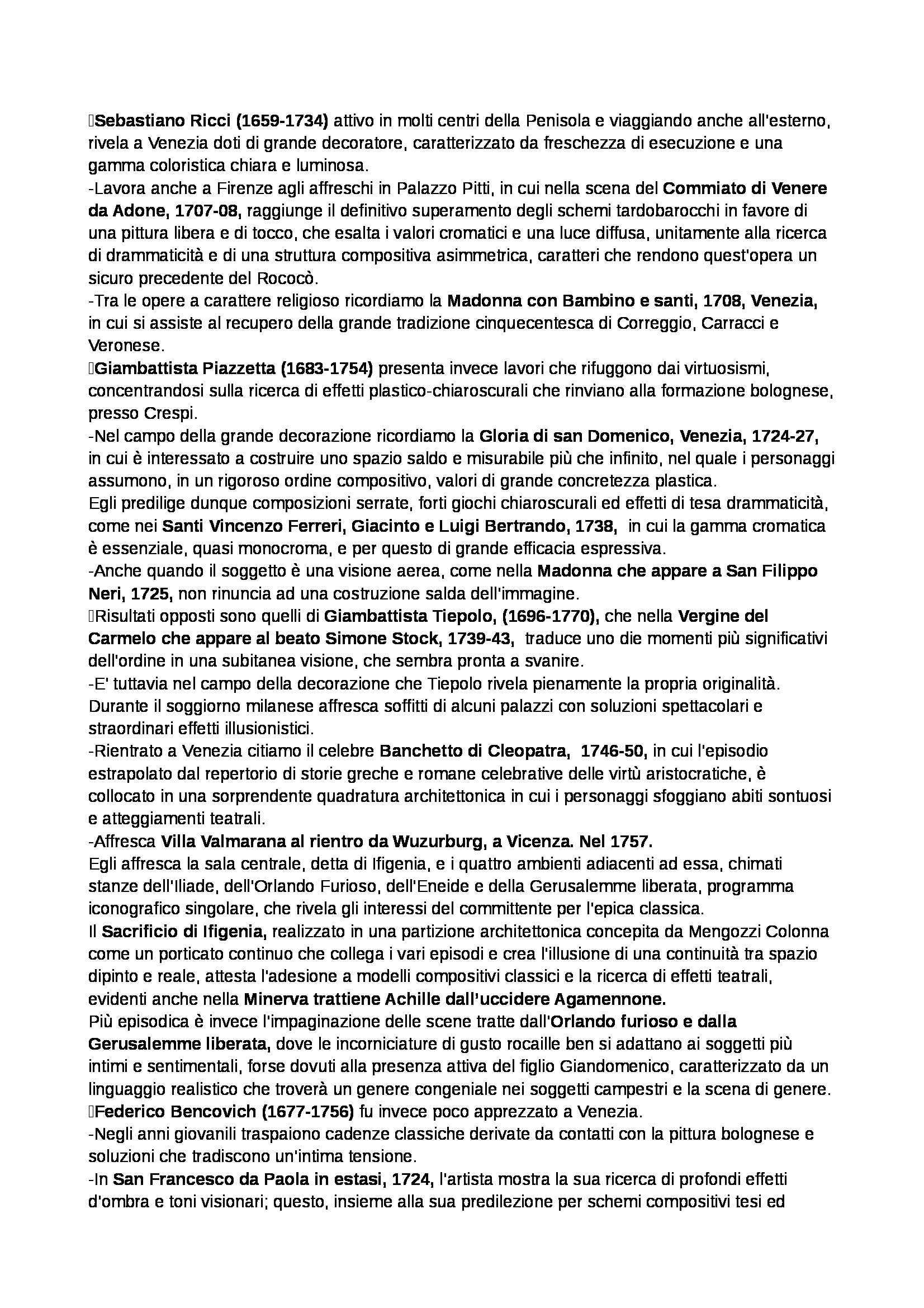 Riassunto esame Storia dell'arte moderna, prof. Benati, libro consigliato Arte nel tempo. Volume 2 -Tomo 2. Dalla crisi della Maniera al Rococò, De Vecchi Pag. 41