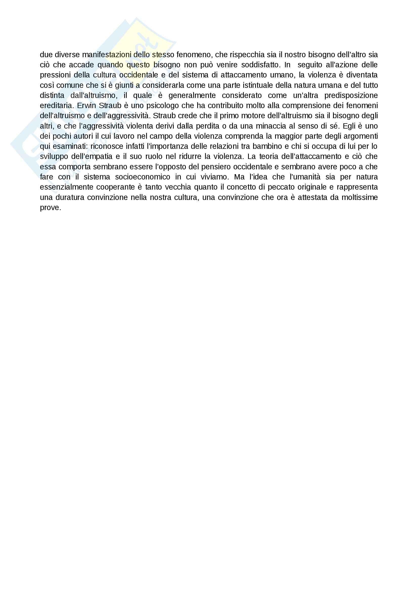 Riassunto esame Modelli psicodinamici, prof. Giannone, libro consigliato Dal dolore alla violenza: Le origini traumatiche dell'aggressività, De Zulueta Pag. 31