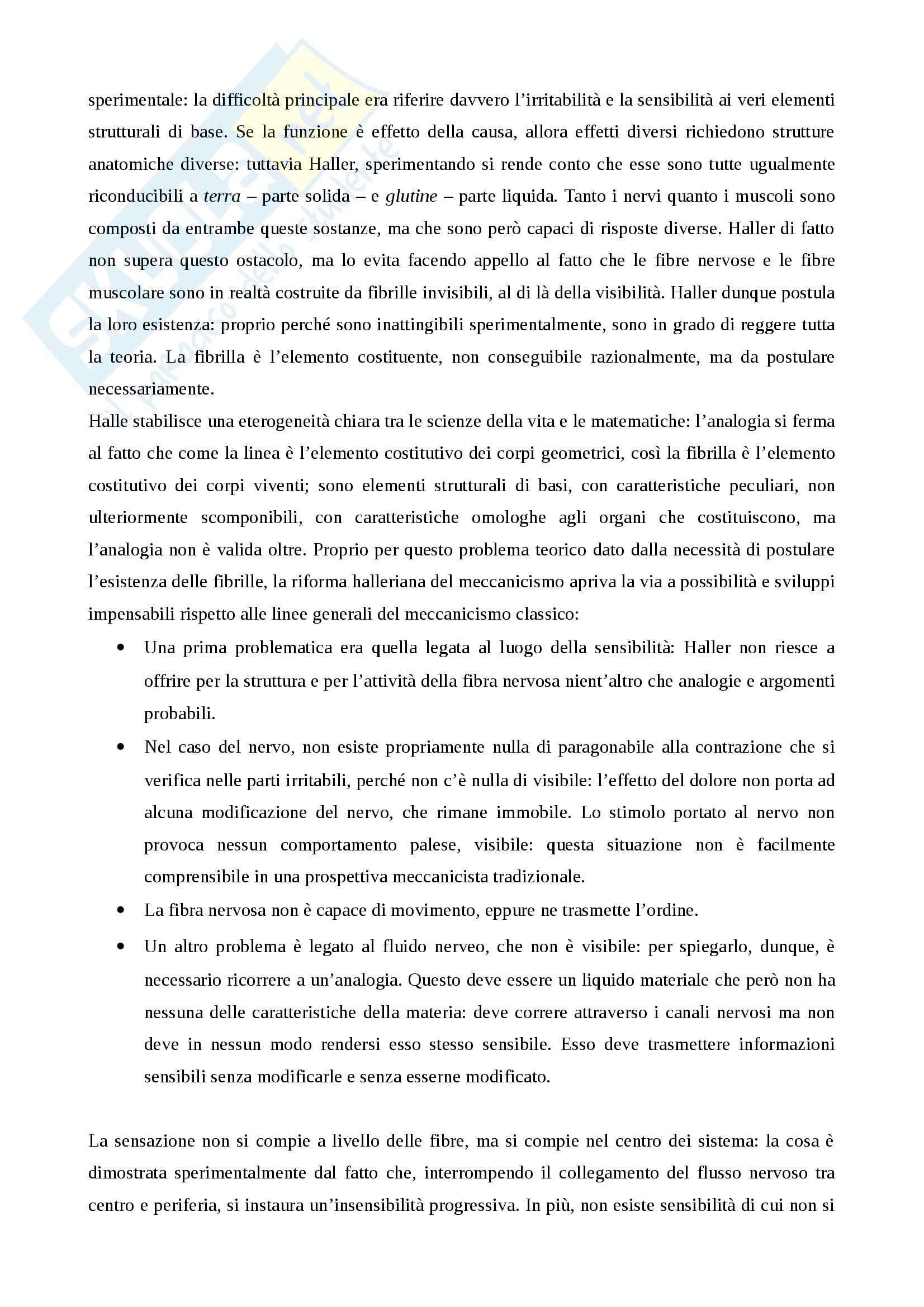 Riassunto esame storia della scienza, prof. Monti per esame di storia della scienza dell'età moderna nascita della fisiologia e meccanicismo Pag. 11