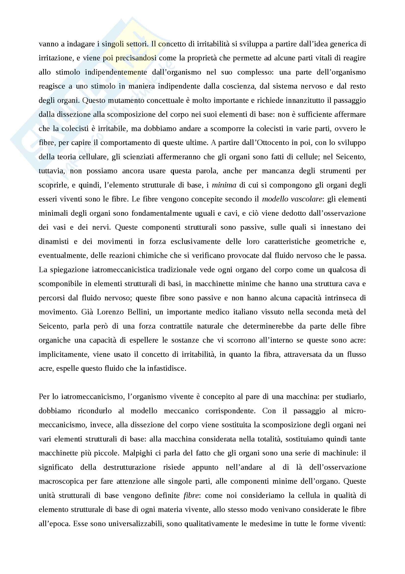 Riassunto esame storia della scienza, prof. Monti per esame di storia della scienza dell'età moderna nascita della fisiologia e meccanicismo Pag. 2