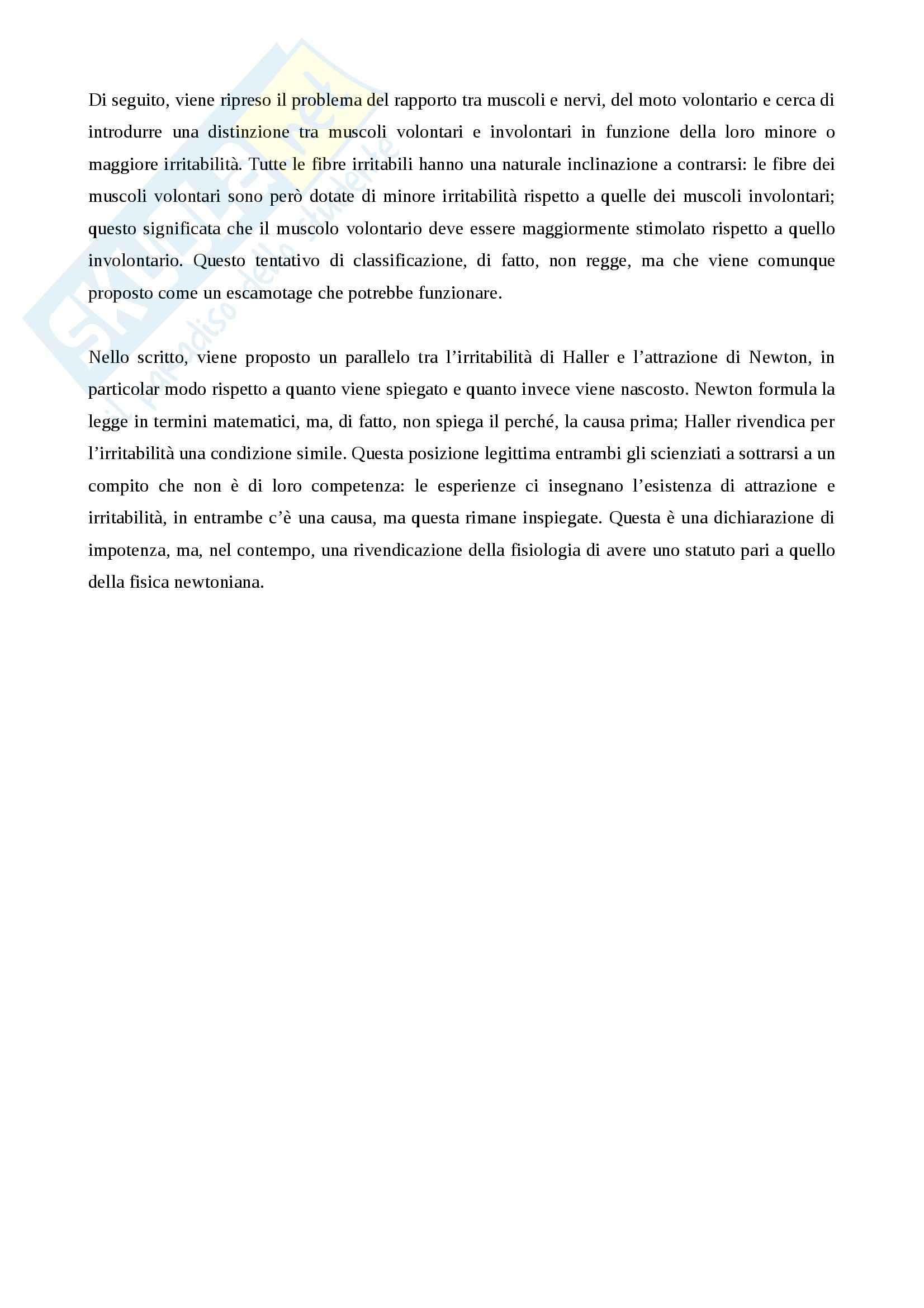 Riassunto esame storia della scienza, prof. Monti per esame di storia della scienza dell'età moderna nascita della fisiologia e meccanicismo Pag. 26