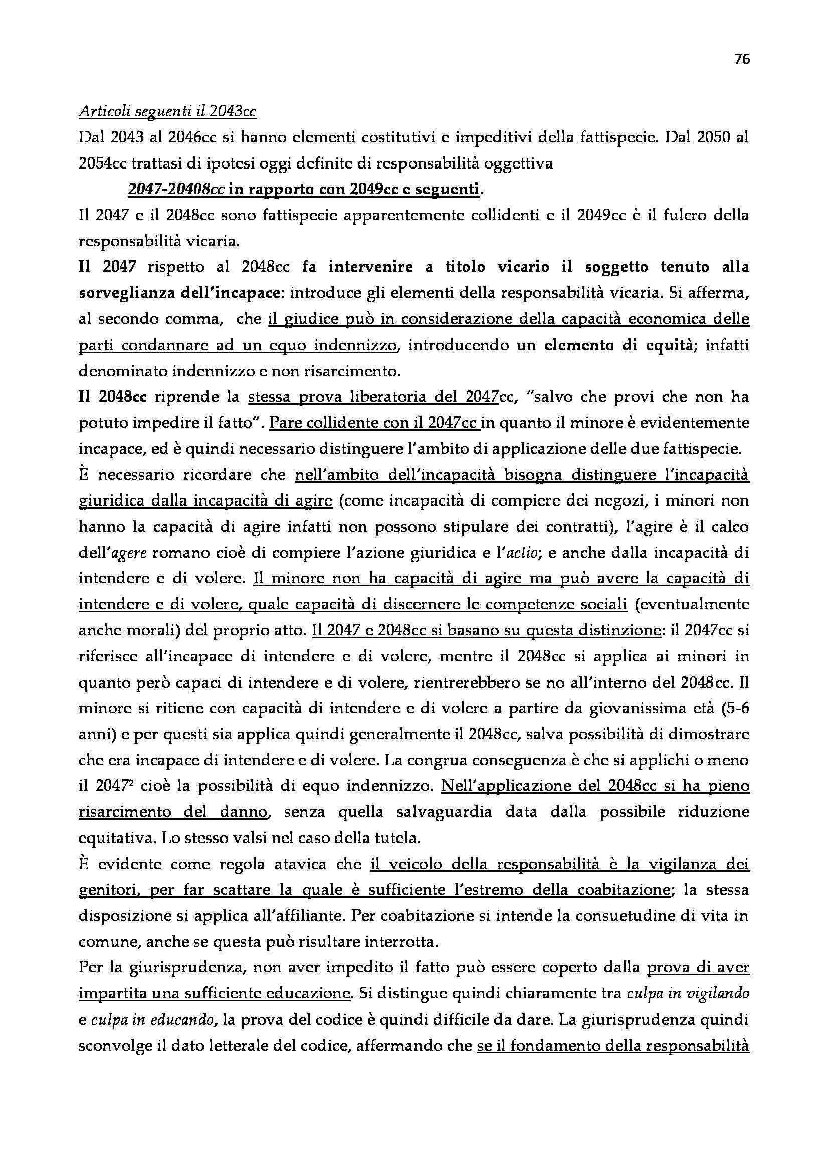 Diritto Civile - Responsabilità Civile Pag. 76