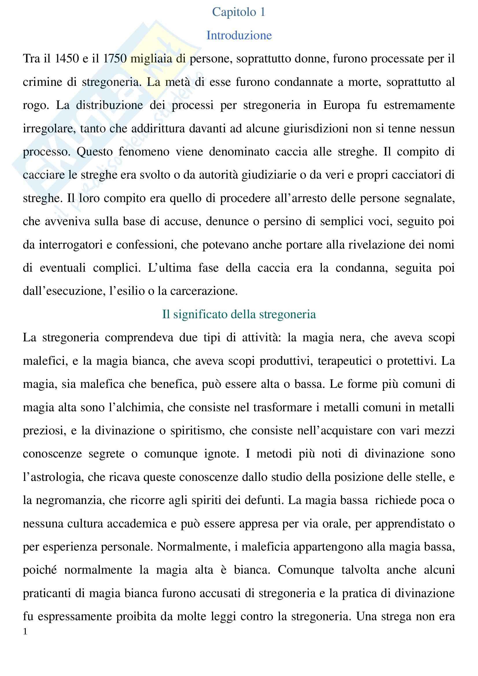 Riassunto esame Storia contemporanea, prof. Lupo, libro consigliato La caccia alle streghe in Europa, Levack