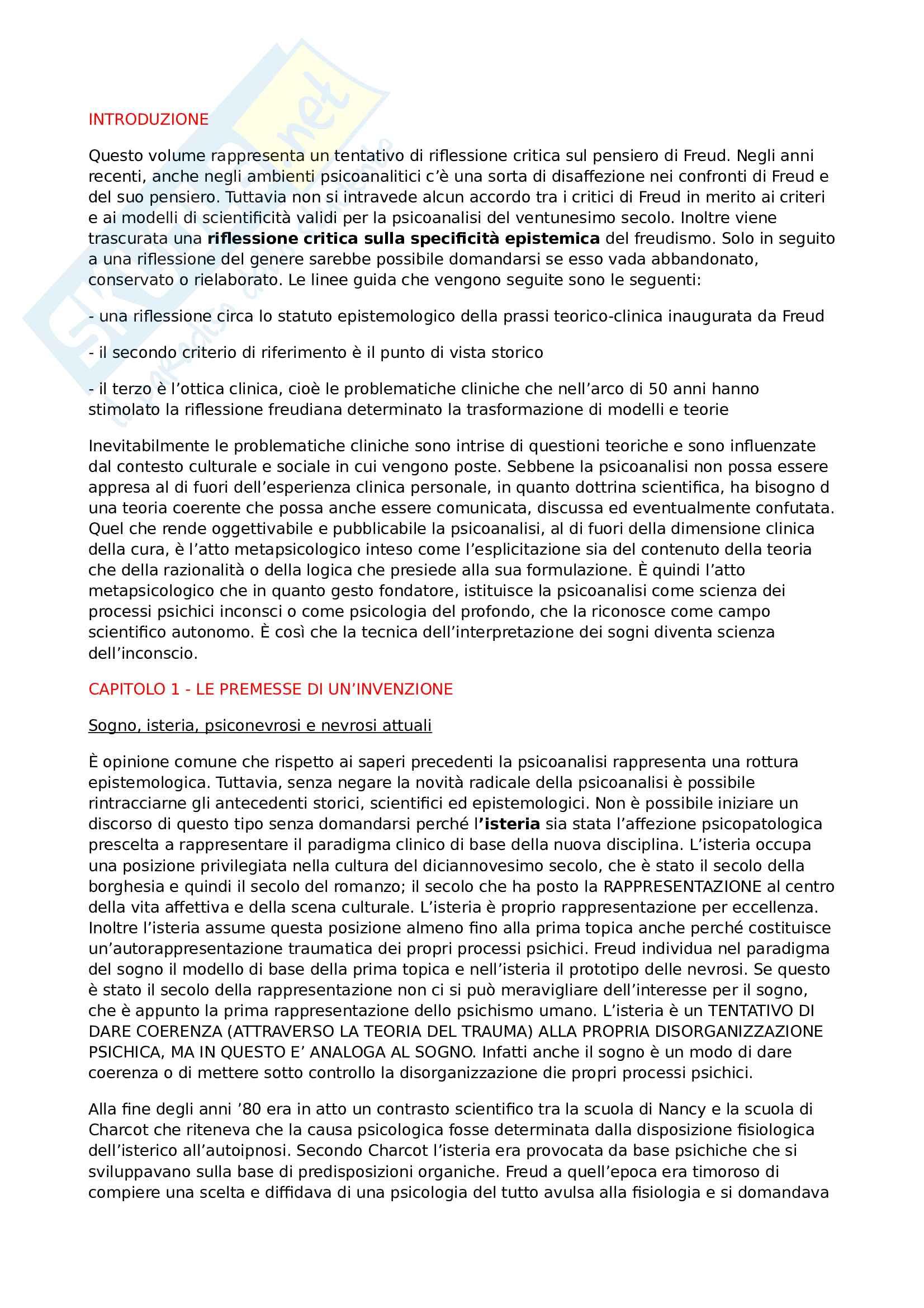 Riassunto esame Diagnosi psicoanalitica, prof Marogna, libro consigliato Tra il sapere e la cura, Conrotto