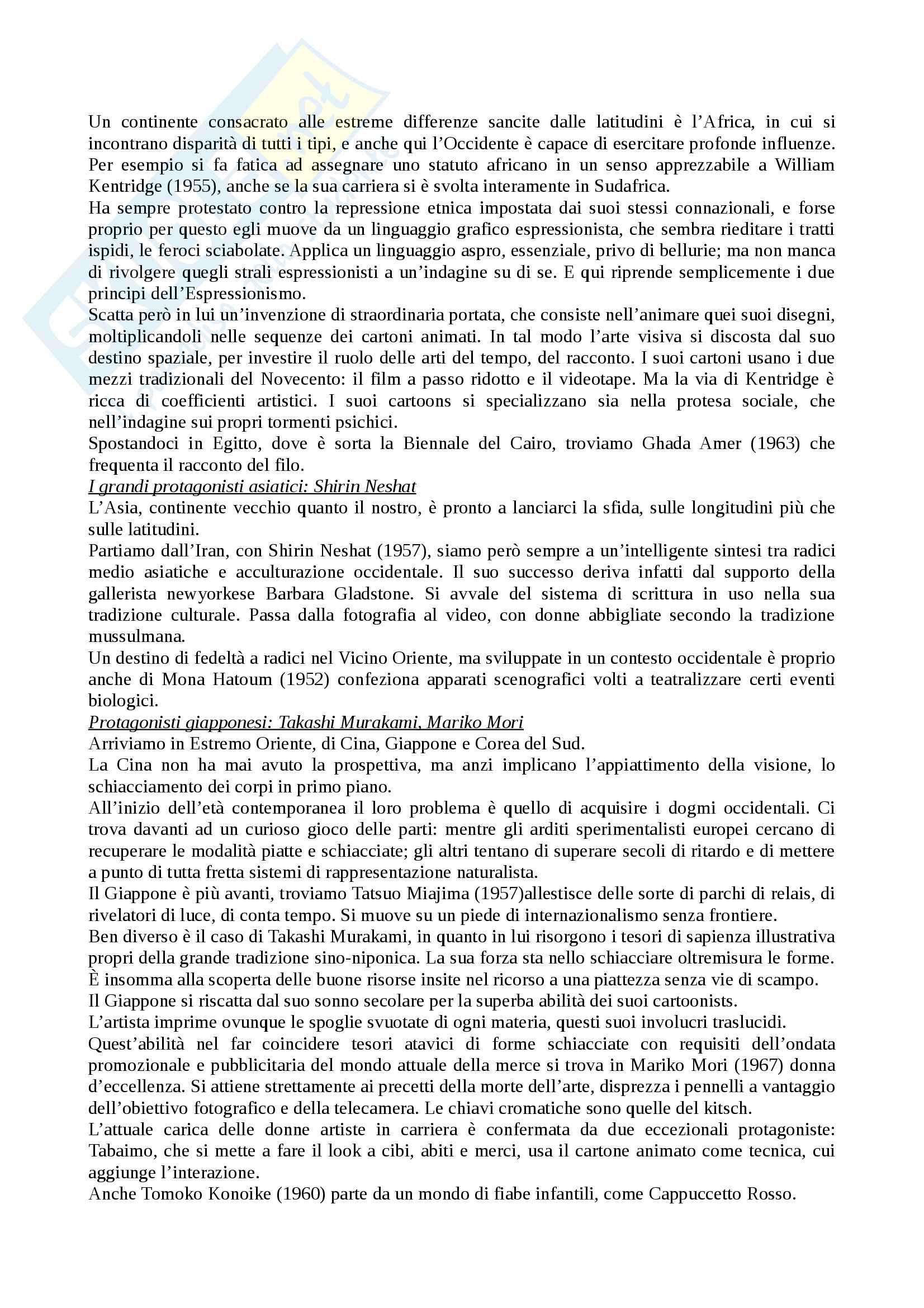 Riassunto esame storia e critica dell'arte contemporanea, docente Trione, libro consigliato Prima e dopo il 2000, Renato Barilli Pag. 21