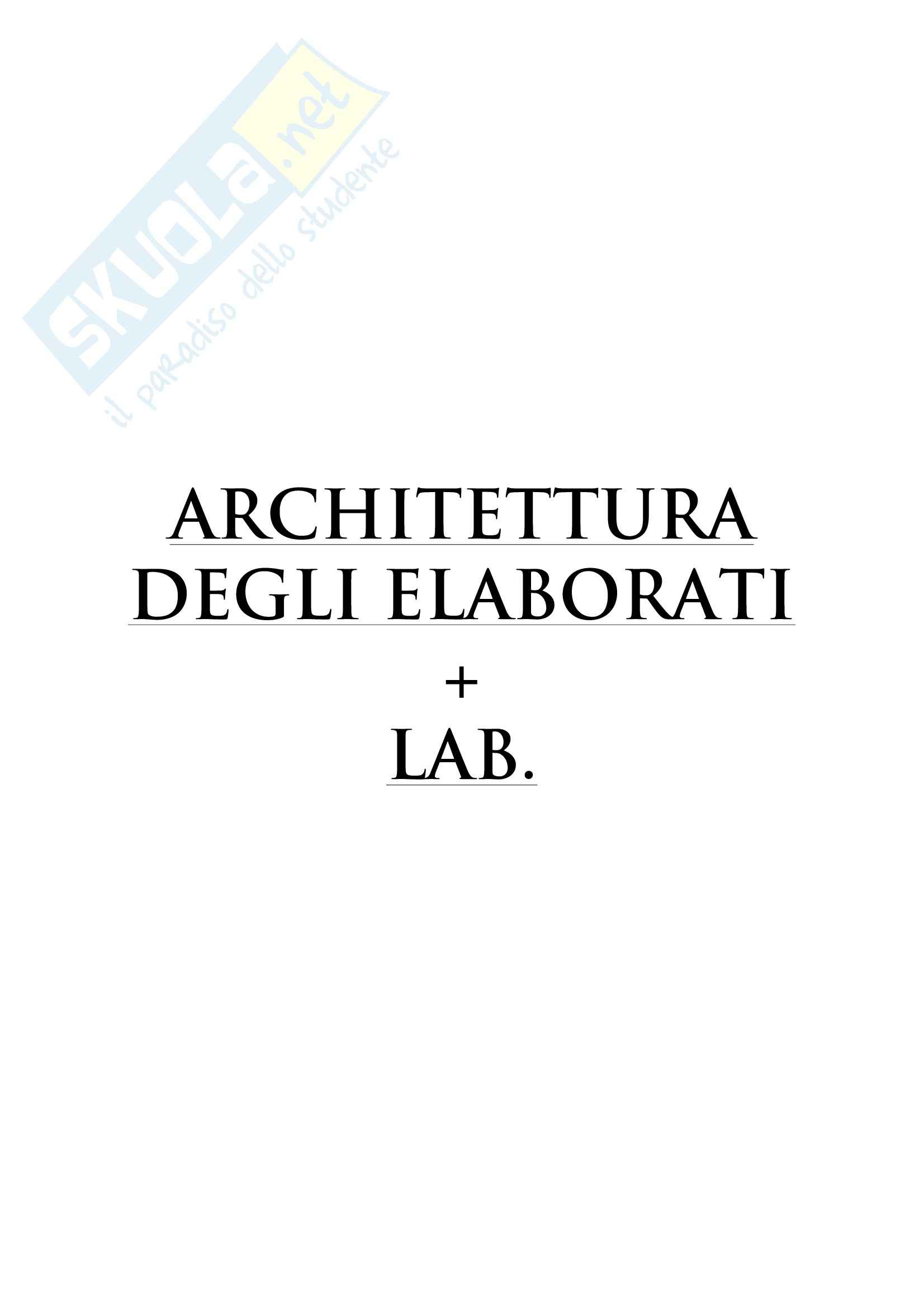 Architettura degli elaborati - Appunti