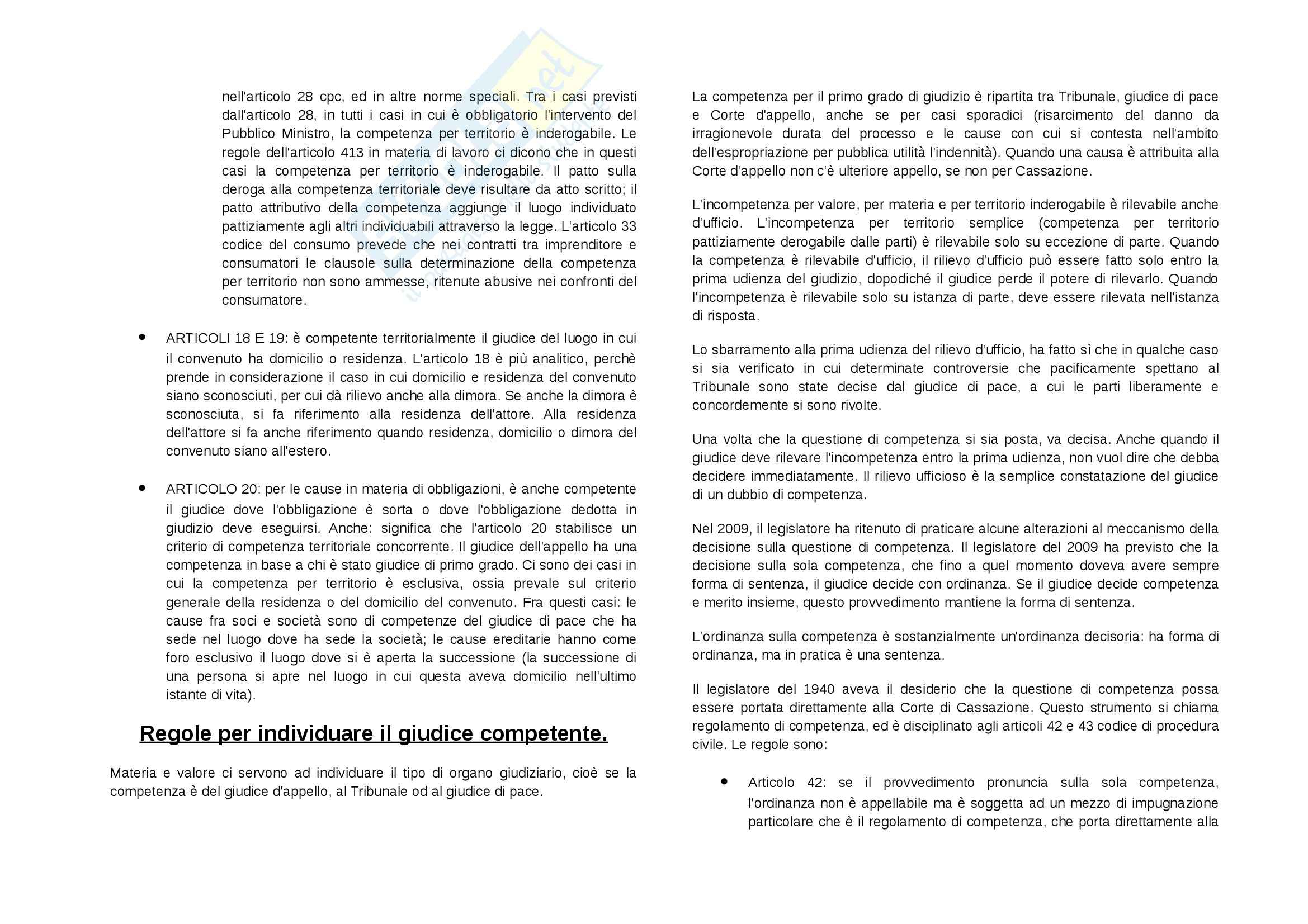 Lezioni, Procedura civile Pag. 16