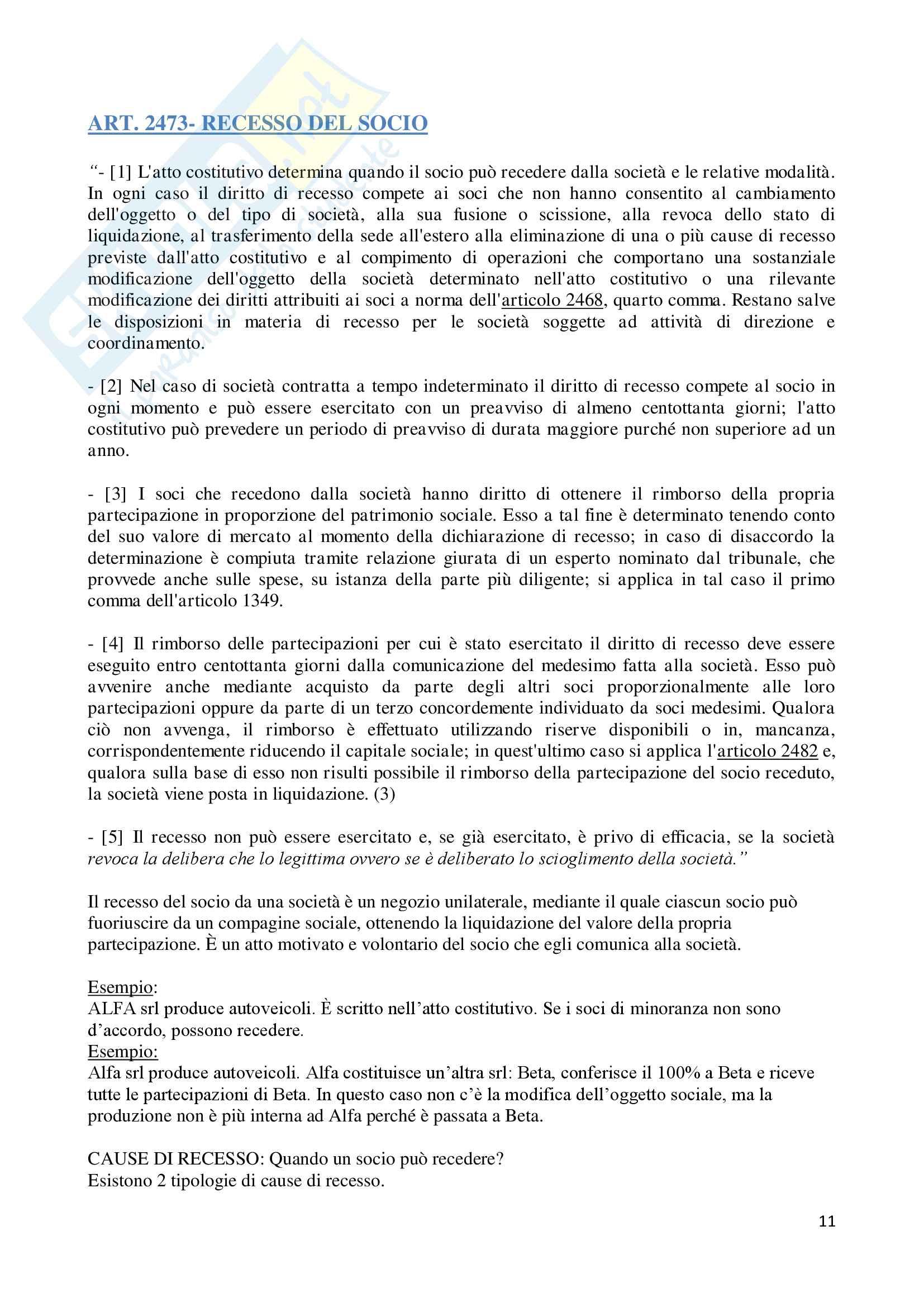 Appunti di Diritto Commerciale II Pag. 11