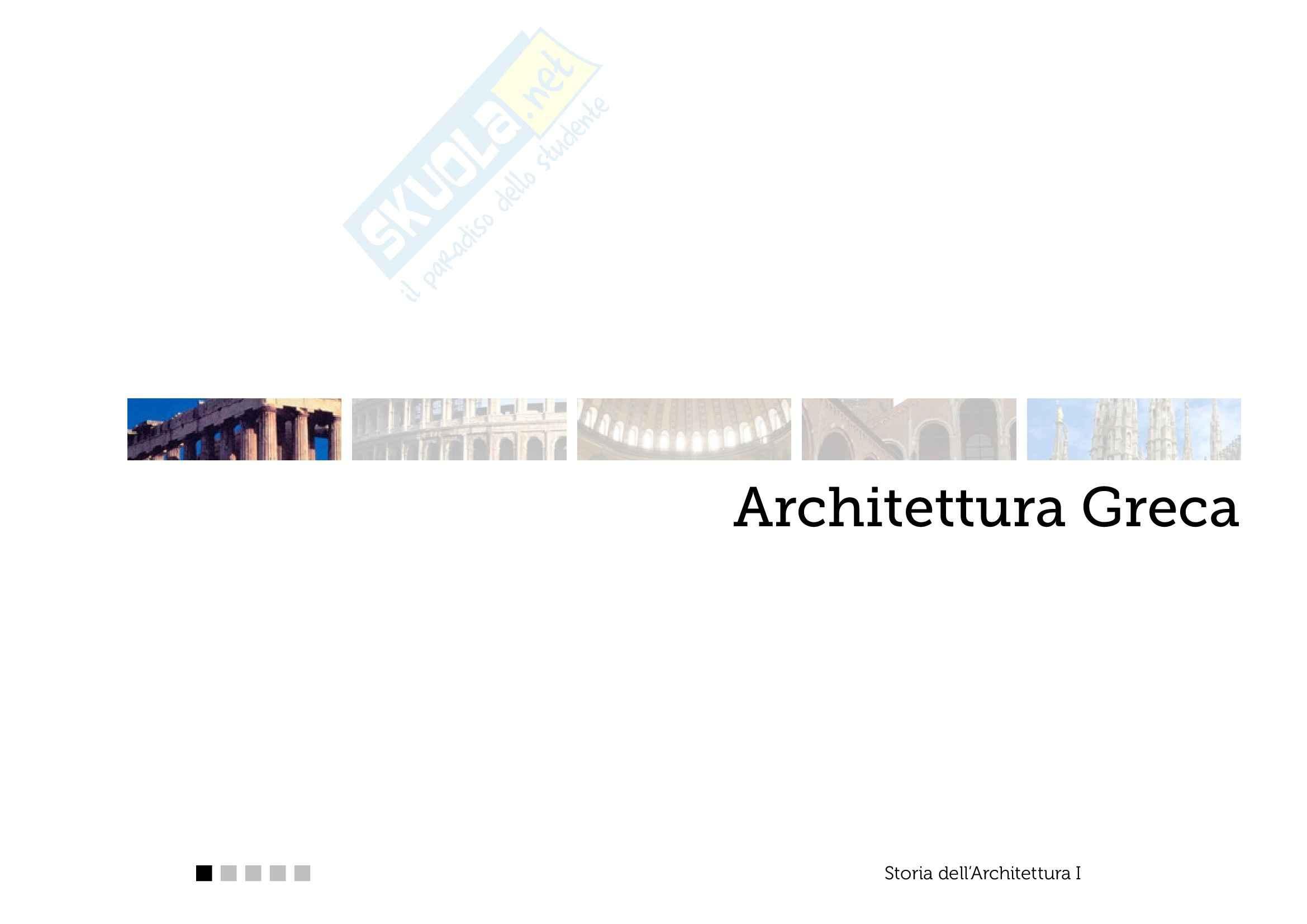 Architettura Greca - Appunti parte 1