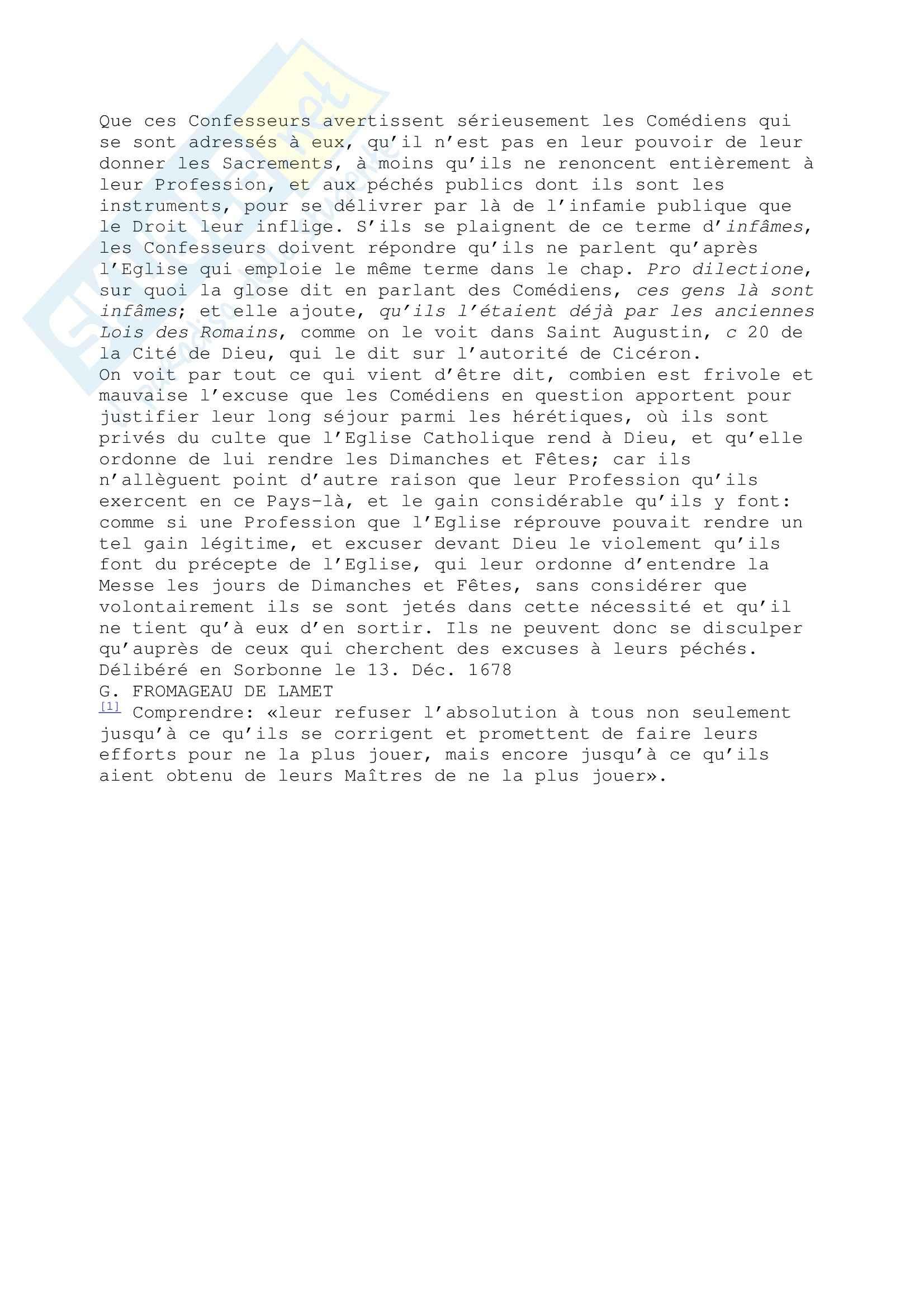 Letteratura francese - Un document inédit sur Dom Juan Pag. 6