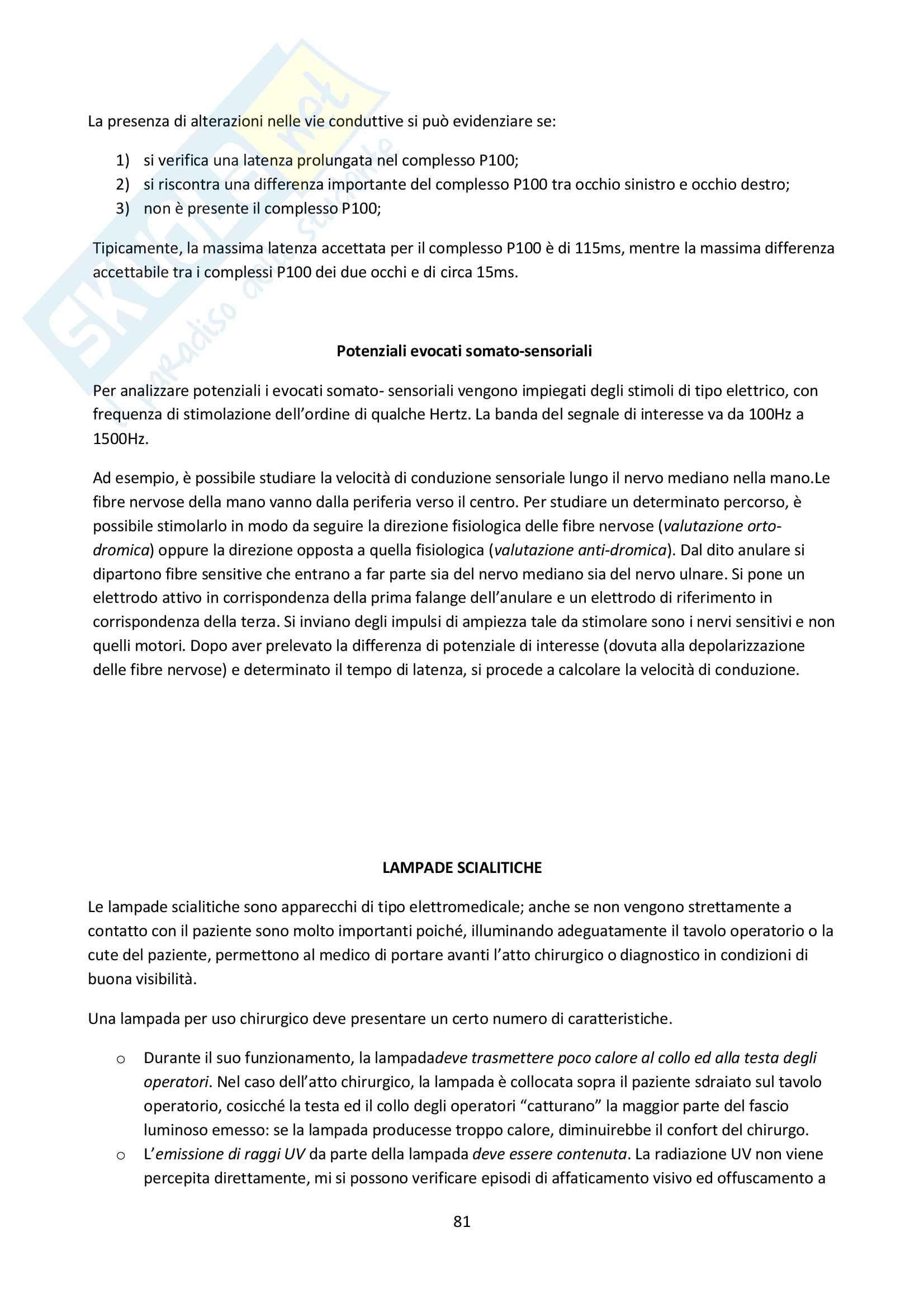 Riassunto di bioingegneria elettronica Pag. 81