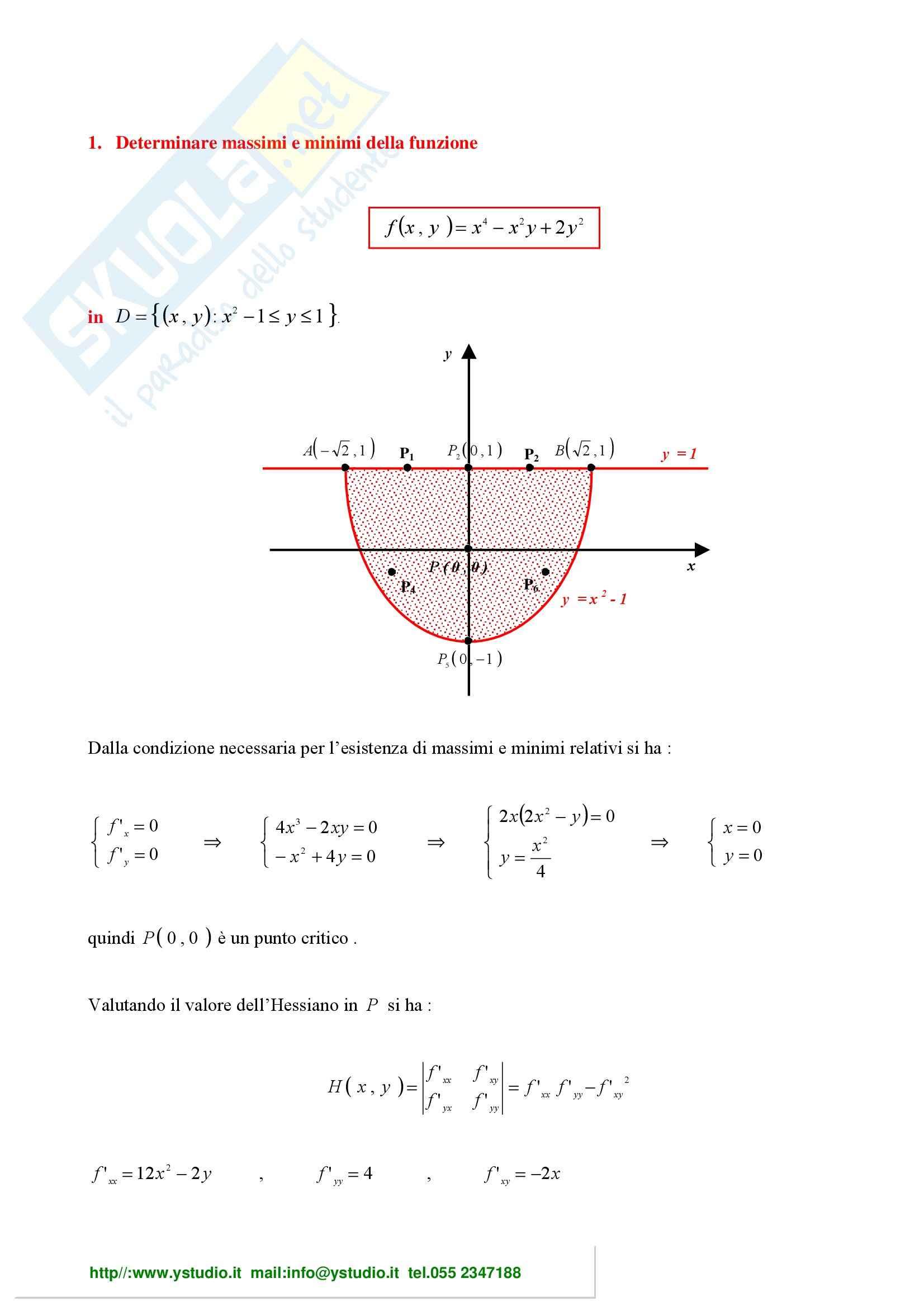 Analisi Matematica 2 - Esercizio
